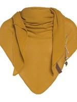Knit Factory Knit Factory - Lola Triangle Sjaal - Oker