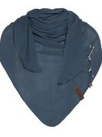 Knit Factory Knit Factory - Lola Triangle Sjaal - Petrol