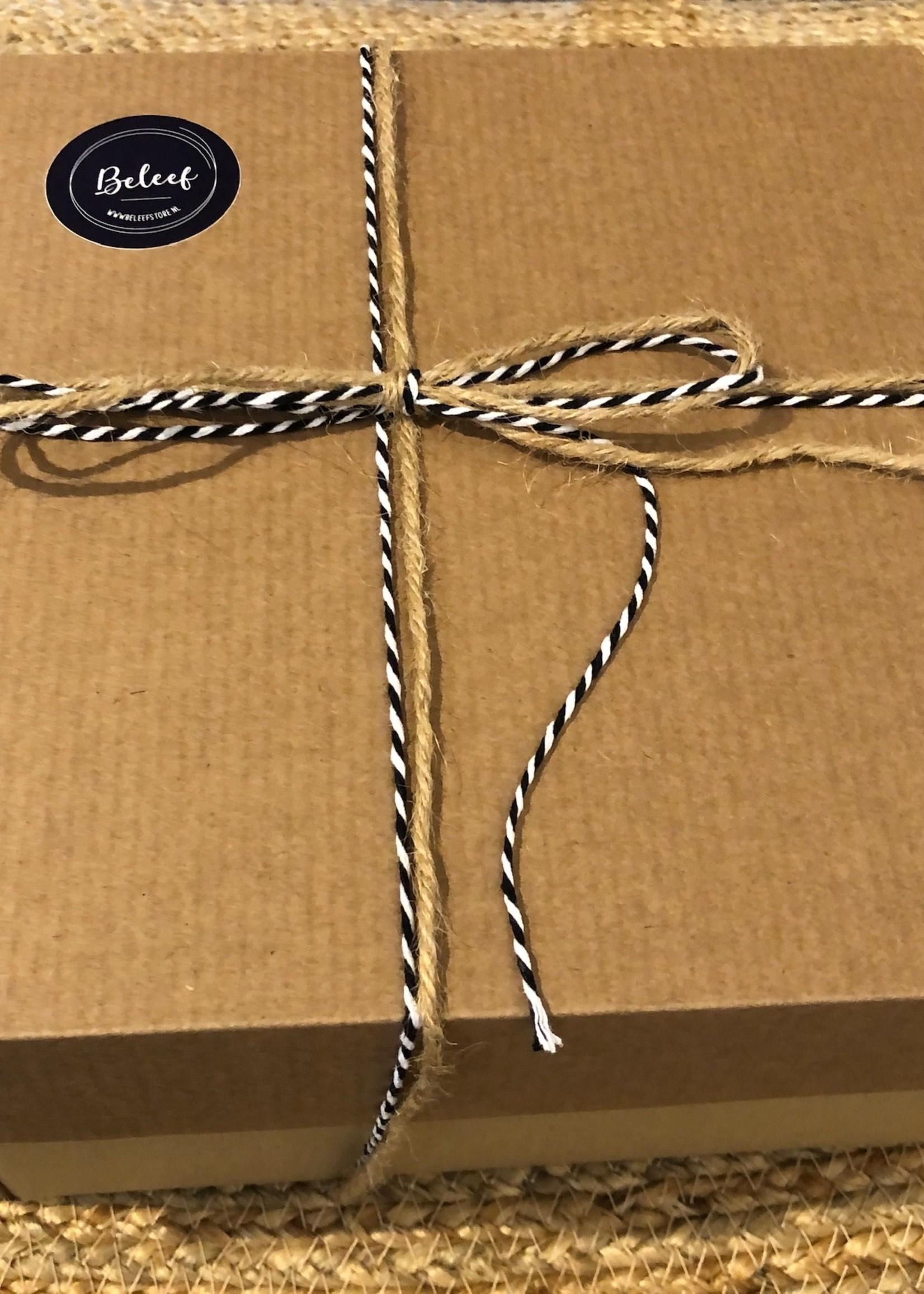 Cadeau doos met deksel 20,5x20,5x12 cm - gerecycled