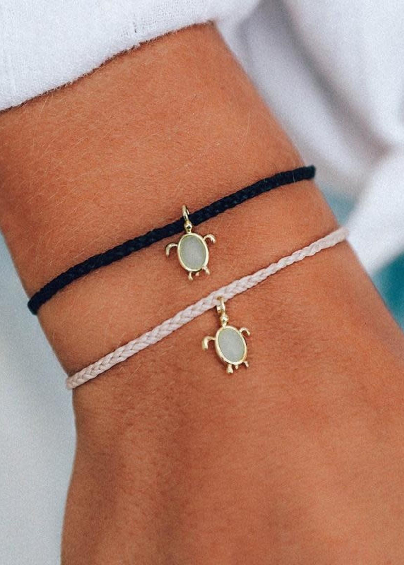Pura Vida Armbandje roze schildpad blauw - Pura Vida