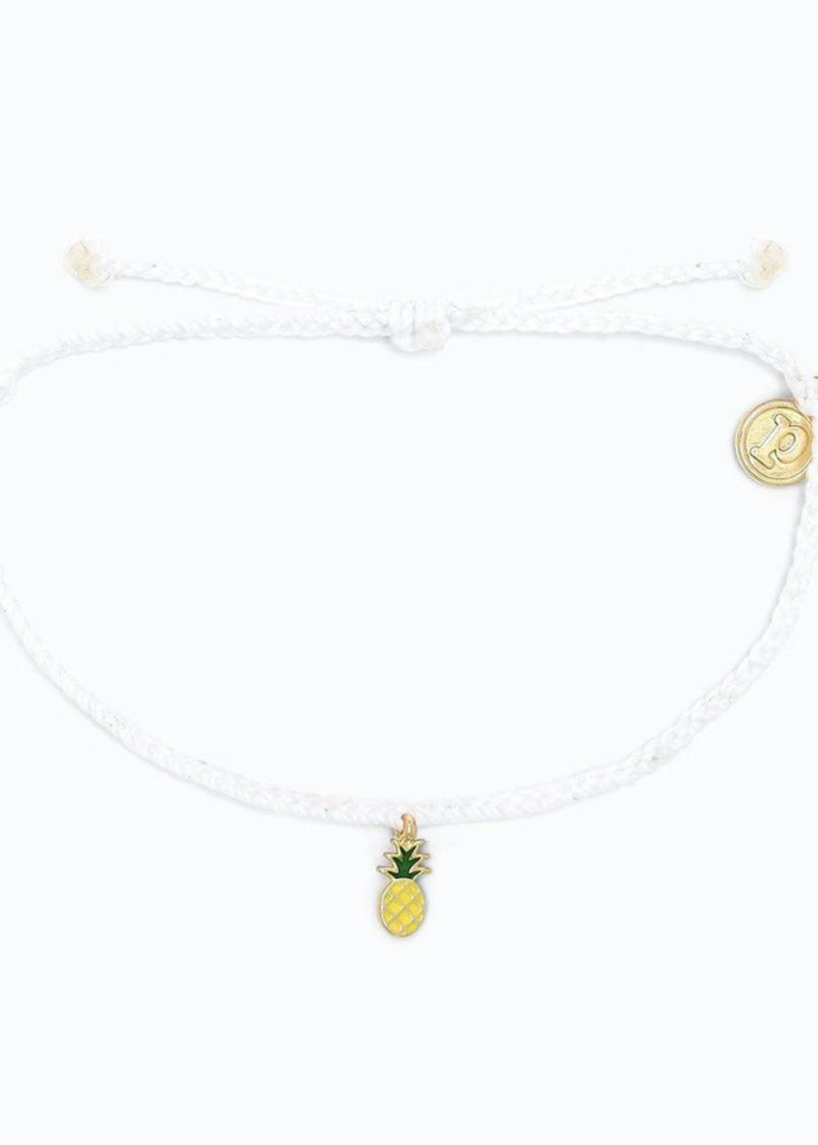 Pura Vida Armband met ananas bedel wit - Pura Vida