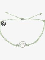 Pura Vida Armband Wave Silver Mindy green -  Pura Vida