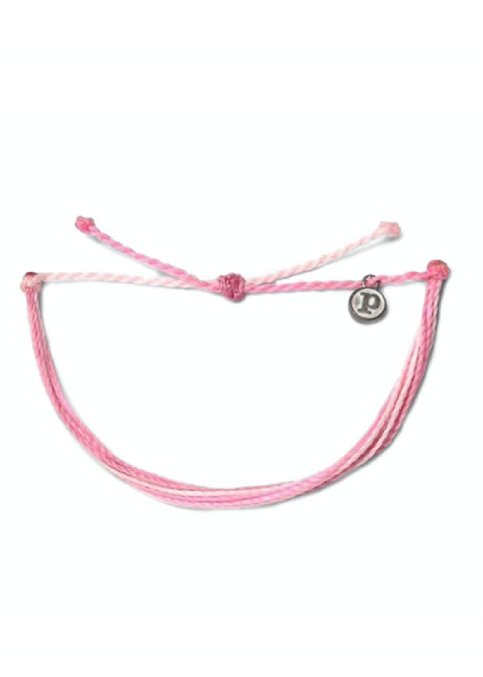 Pura Vida Armband rose - Boarding voor Breast Cancer