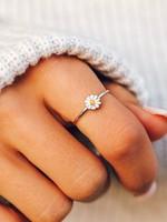 Pura Vida Ring met madeliefje plated silver - Pura Vida Daisy Ring