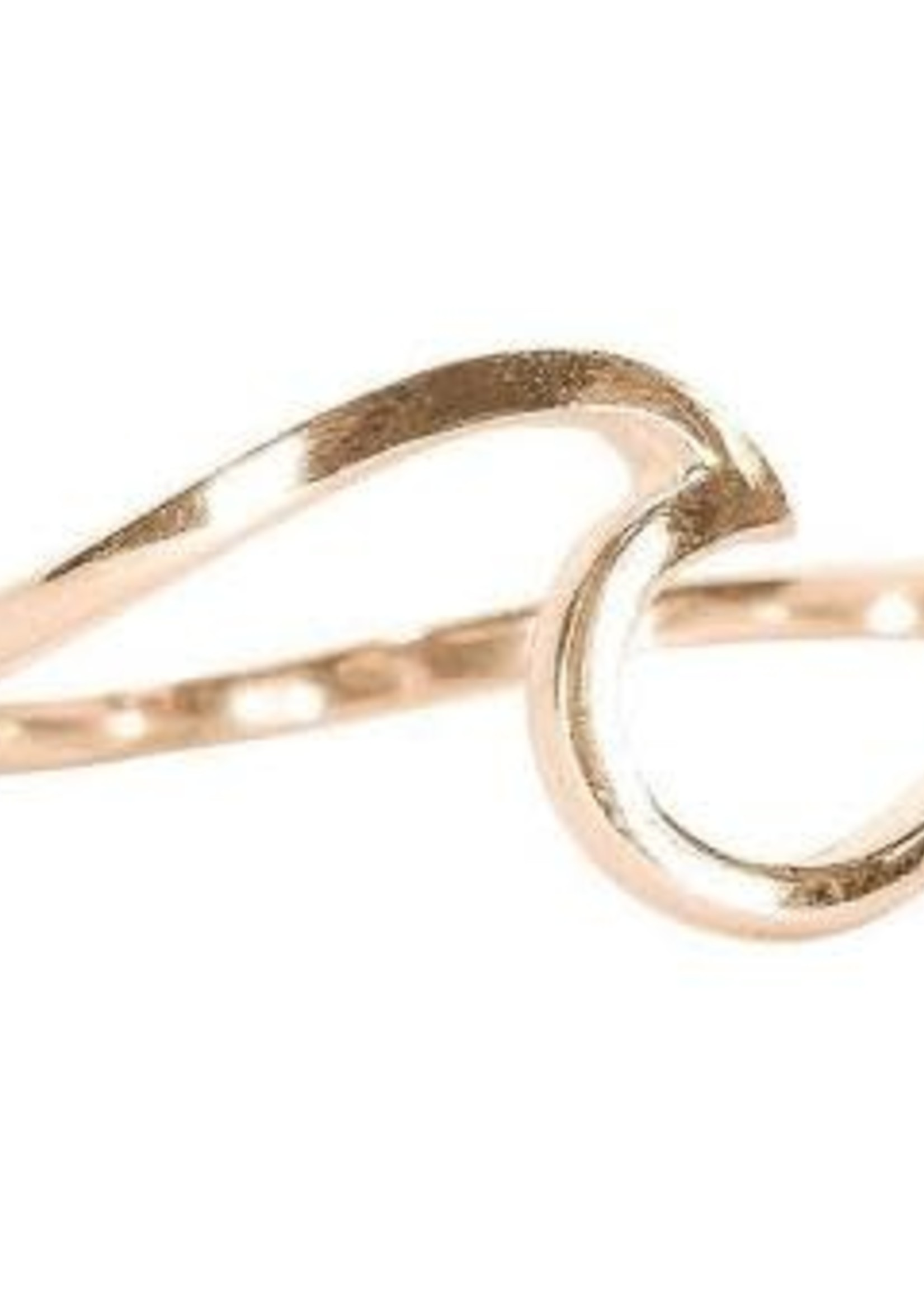 Pura Vida Wave Ring Rose Gold-  plated - Pura Vida