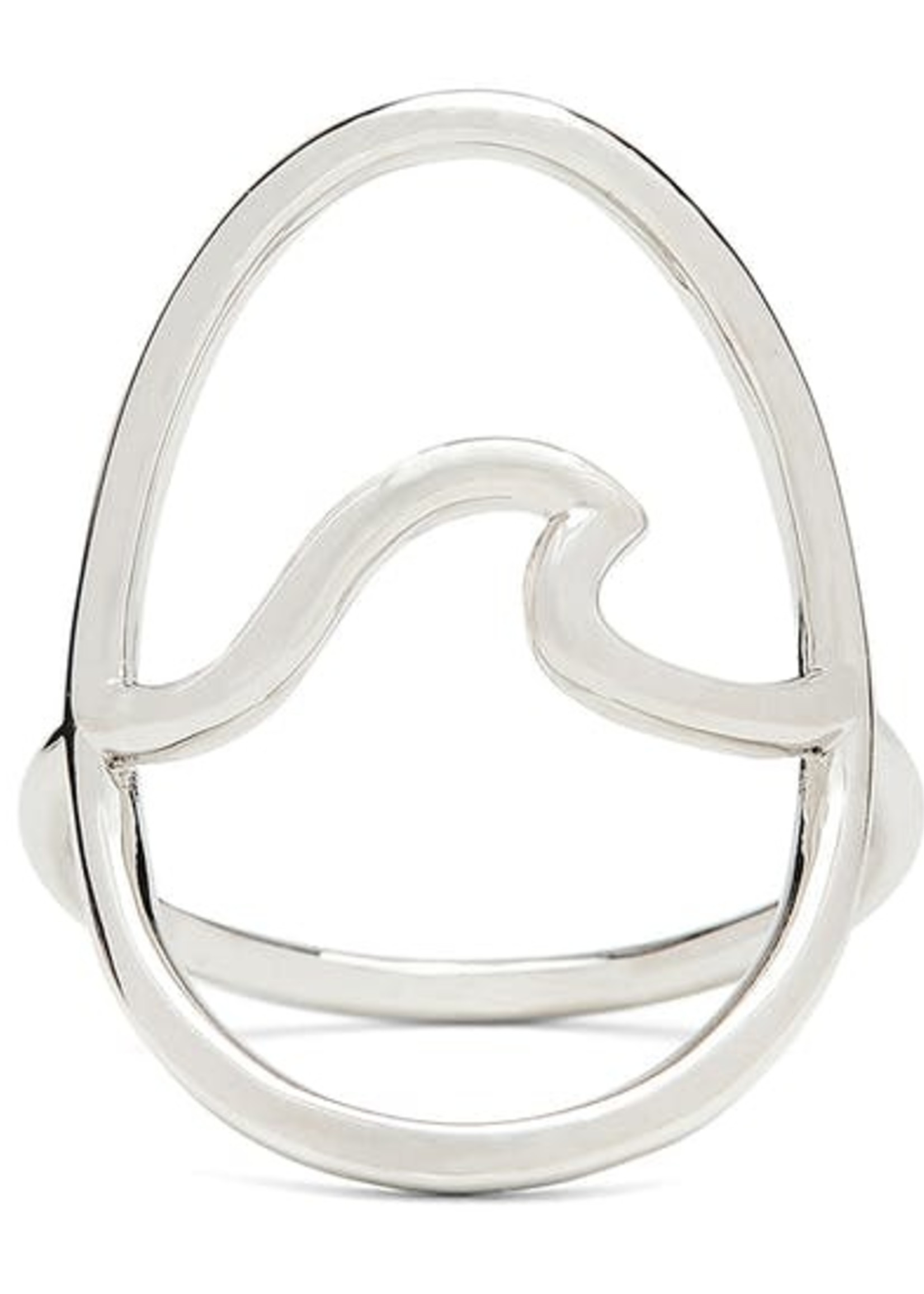 Pura Vida Large Wave Ring Silver -  plated - Pura Vida