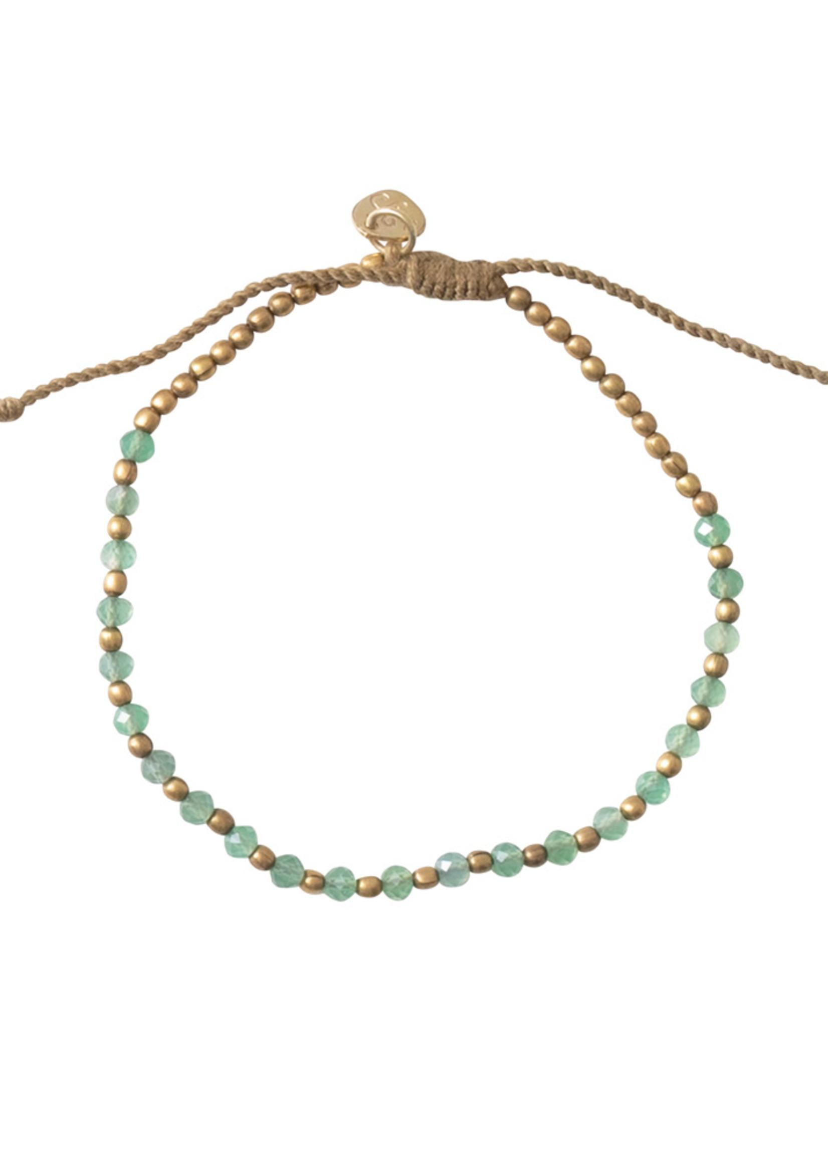 A Beautiful Story Beautiful Aventurine Gold Bracelet Goud