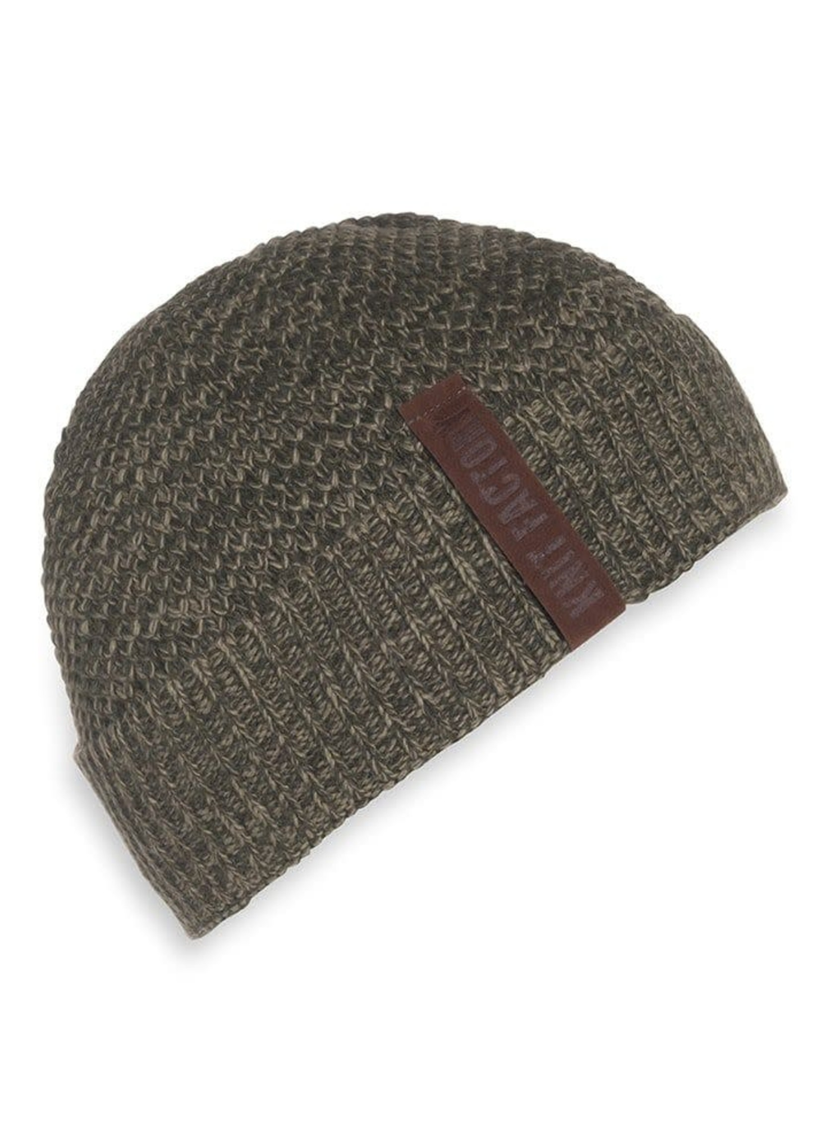 Knit Factory Knit Factory - Muts - Olijf groen