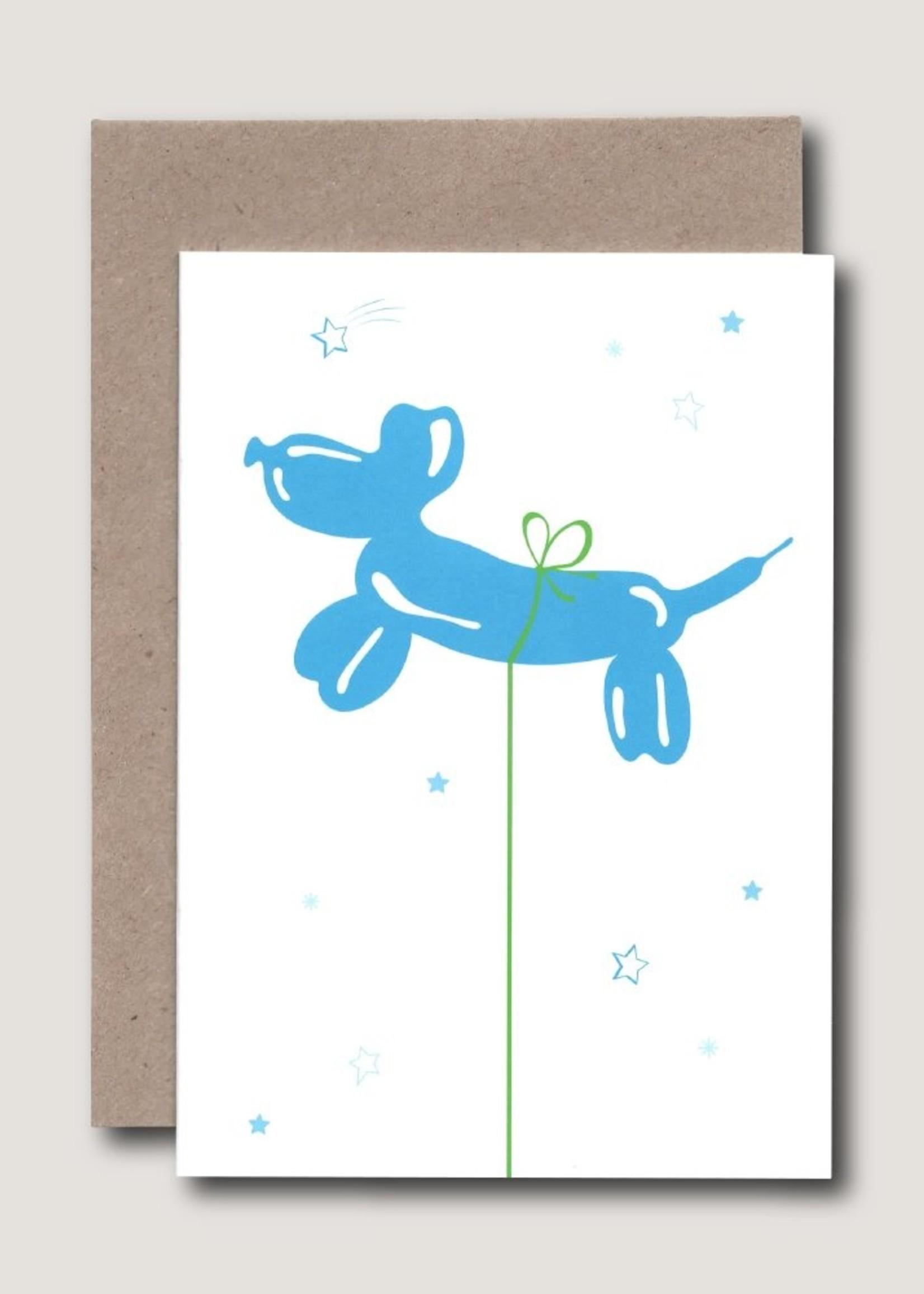 Wowgoods Blauwe Ballon - Kaart