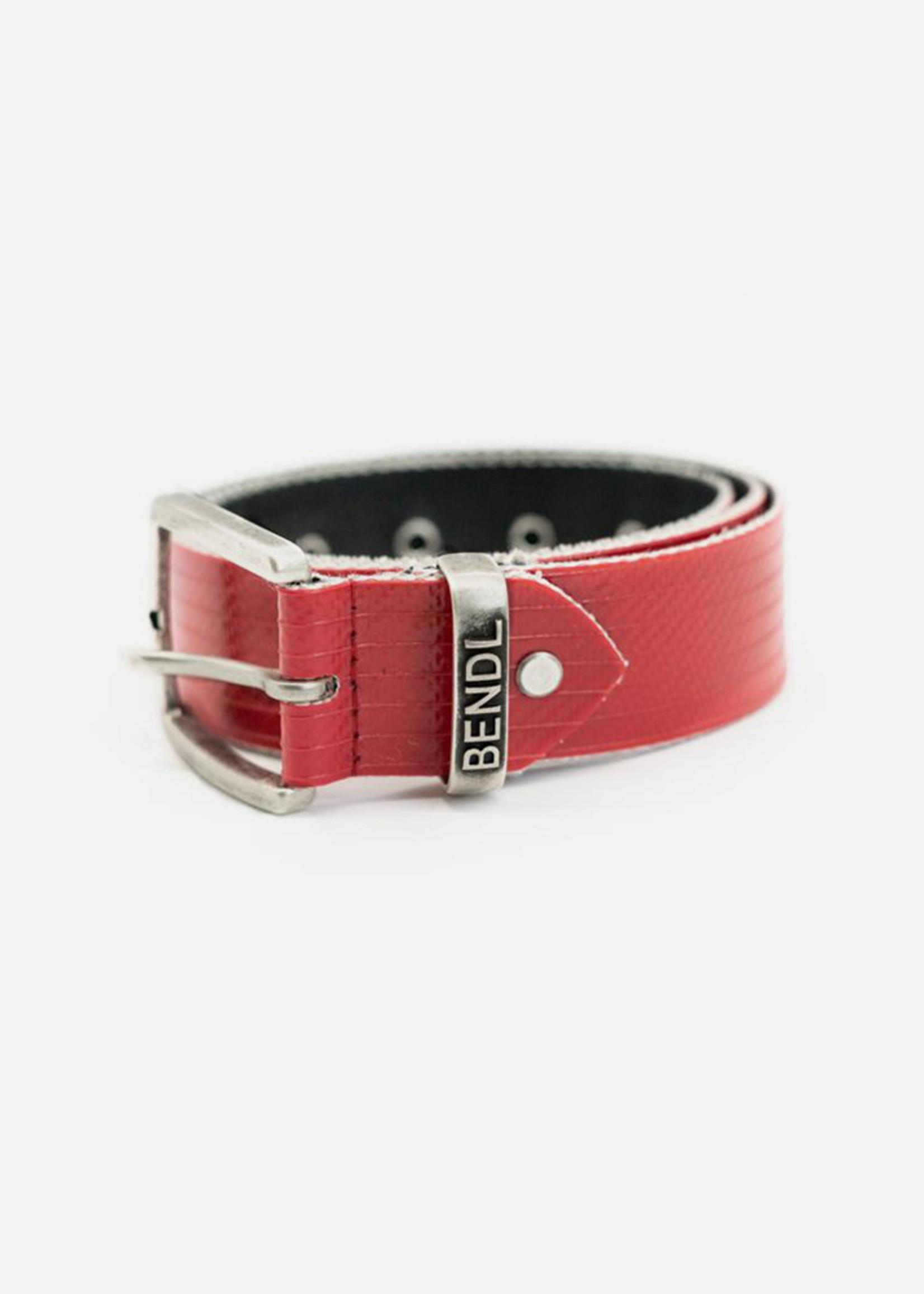 Bendl Bendl - Riem - Gerecycled Brandweerslang - Red Flash Rood