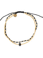 A Beautiful Story a Beautiful Story - Friendship Zwarte Onyx  - Goud Armband