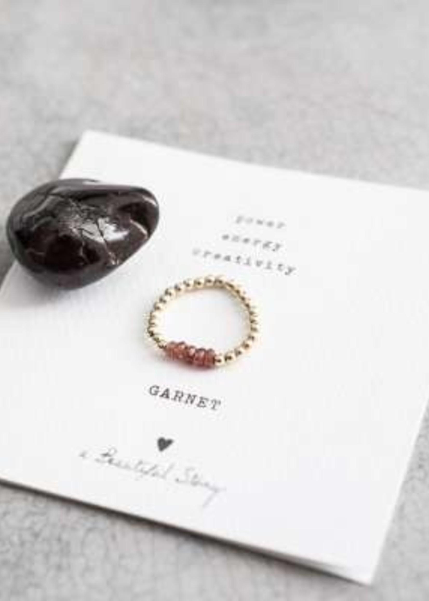 A Beautiful Story a Beautiful Story  Beauty Granaat Ring  M/L