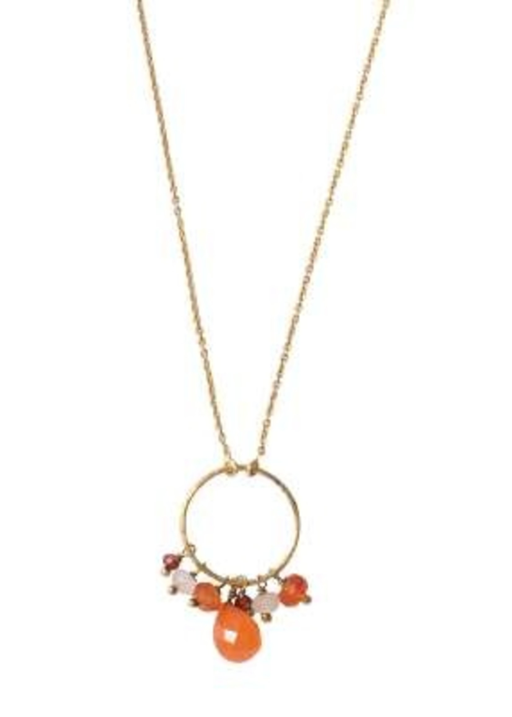 A Beautiful Story a Beautiful Story - Sparkles Carneool mix goud ketting