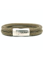 By Julian By Julian- armband Ulang groen- bruin- (100% gerecycled koord)