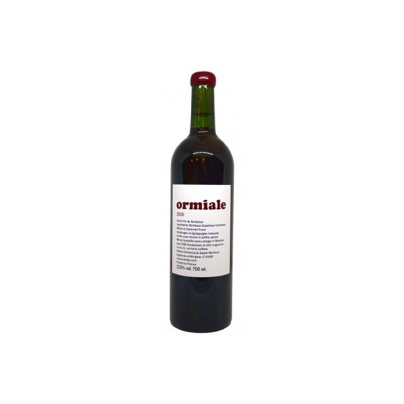 Ormiale, Vin Nature Bordeaux Superieur, 2016