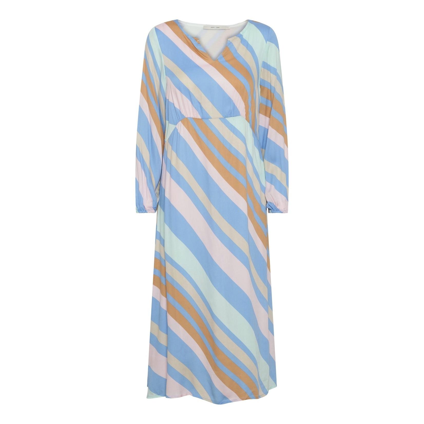 Costa & Mani Costa Mani Happy Dress Multi Stripe 2101310