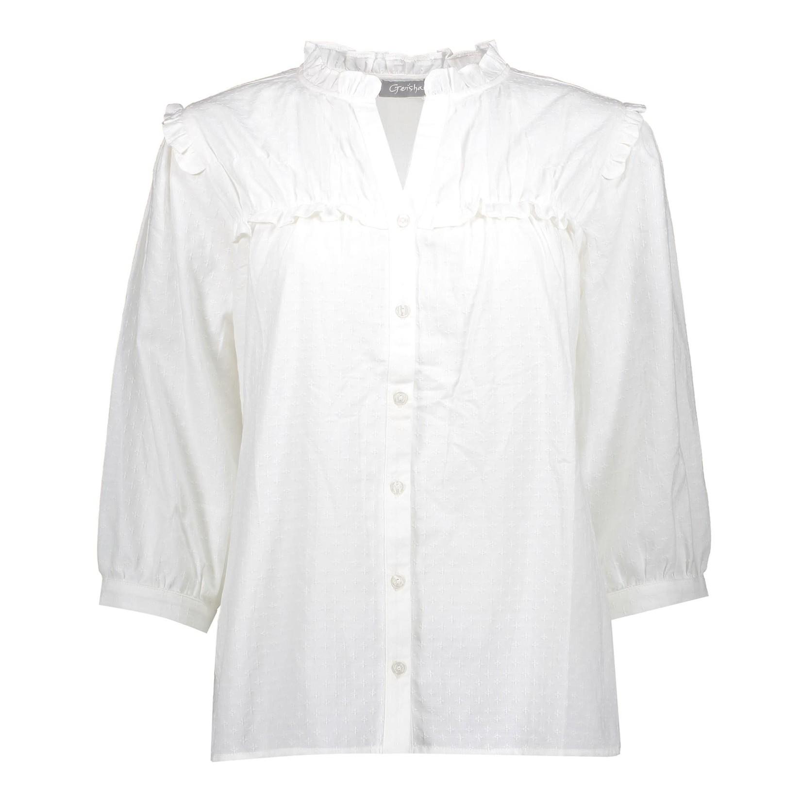 Geisha Geisha blouse off-white 13204-20