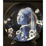 Heinen Heinen Delfts Blauw wandbord Meisje met de parel 26 cm