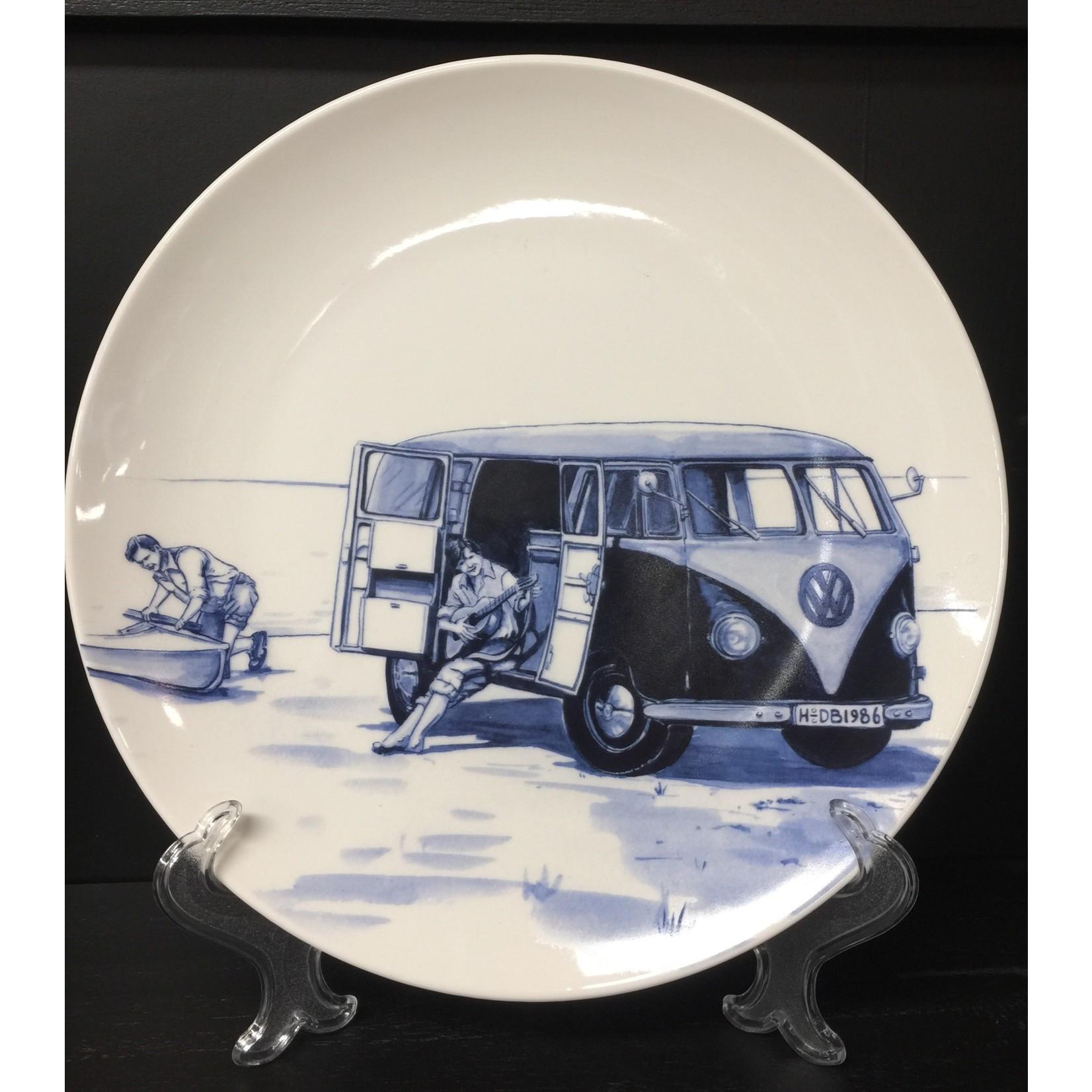 Heinen Heinen Delfts Blauw wandbord Retro collectie busje 26 cm