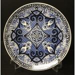 Heinen Heinen Delfts Blauw wandbord Bloem symmetrisch 16 cm