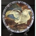 Heinen Heinen Delfts Blauw wandbord De Bedreigde Zwaan 31.5 cm
