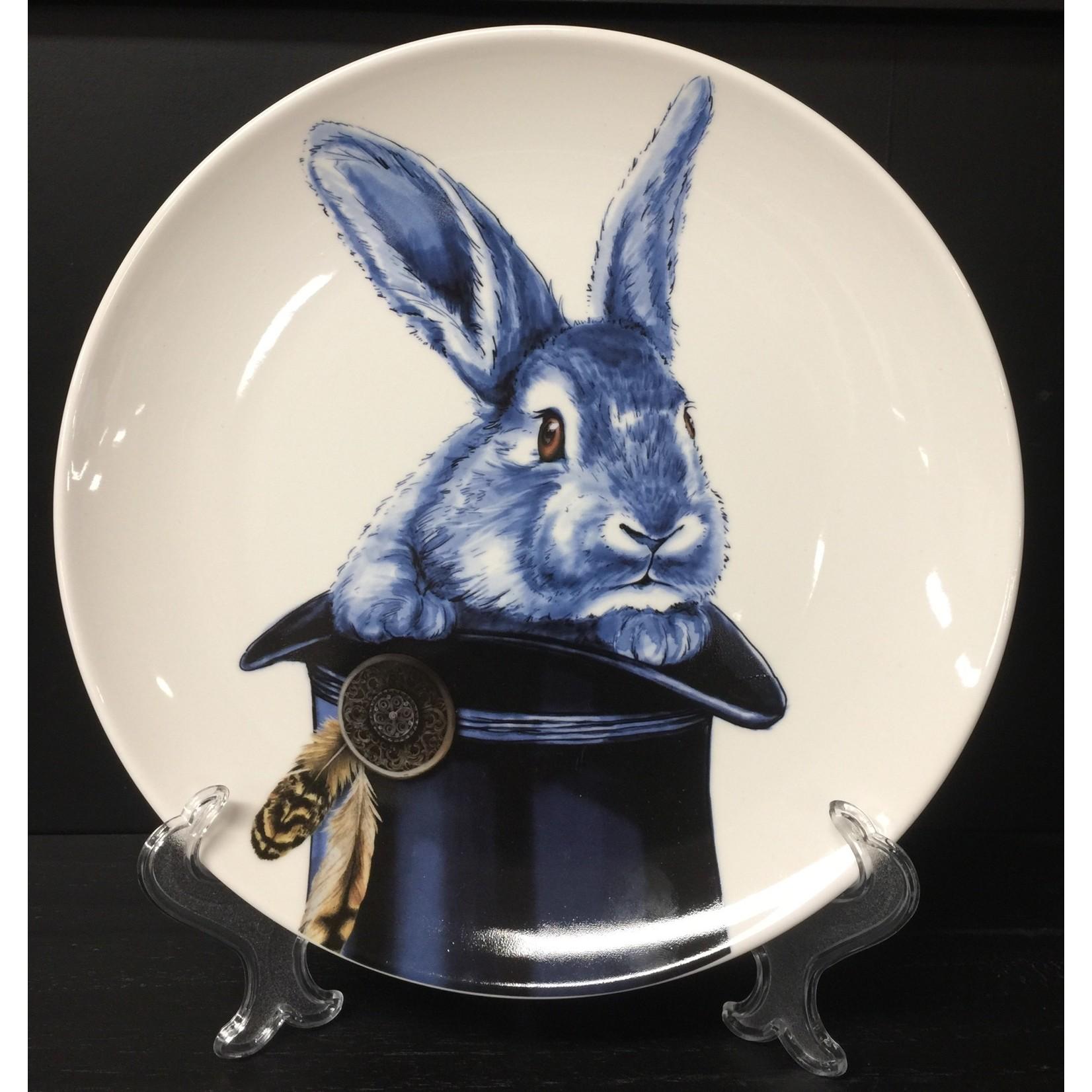 Heinen Heinen Delfts Blauw wandbord Konijn 26 cm