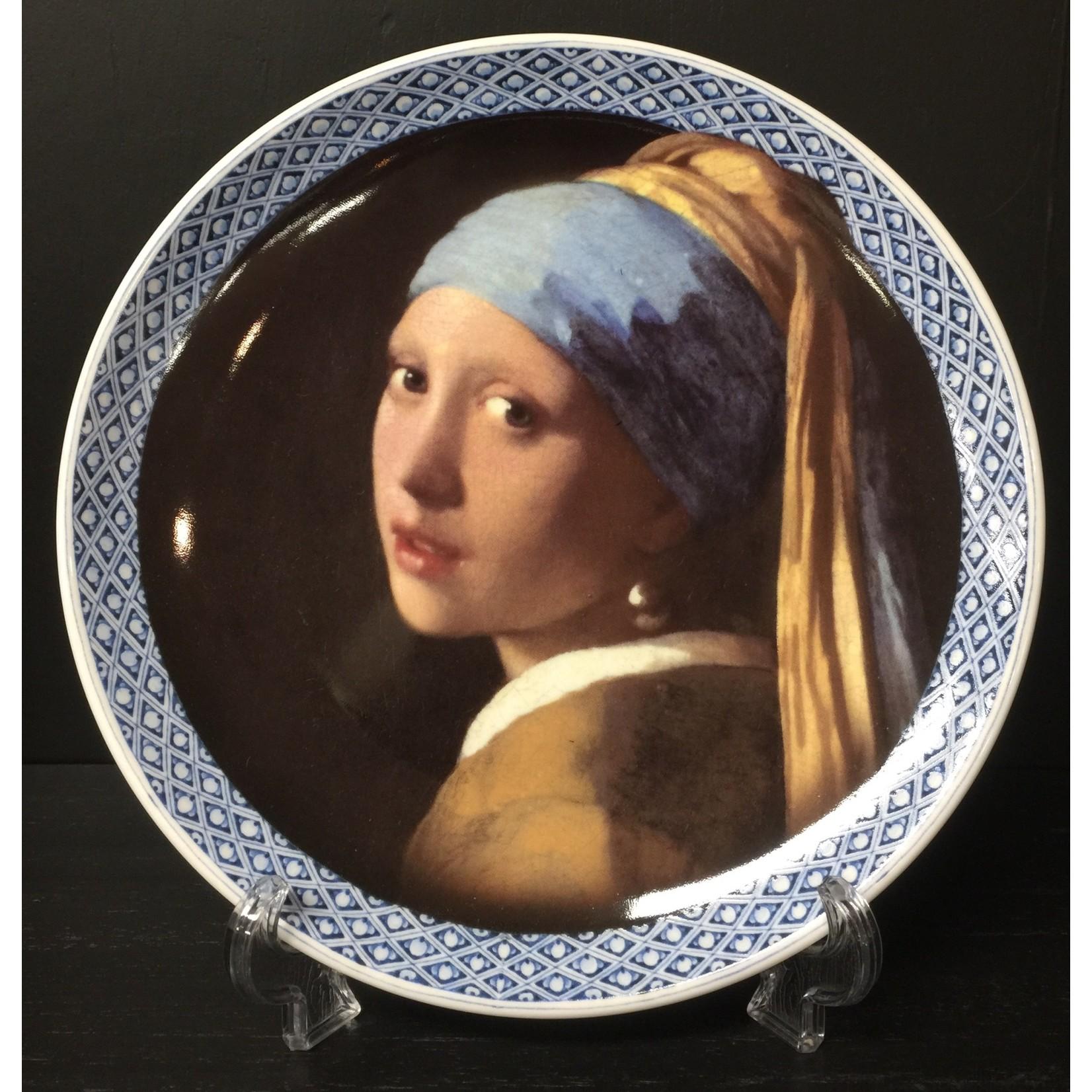Heinen Heinen Delfts Blauw wandbord Meisje met de parel 20 cm