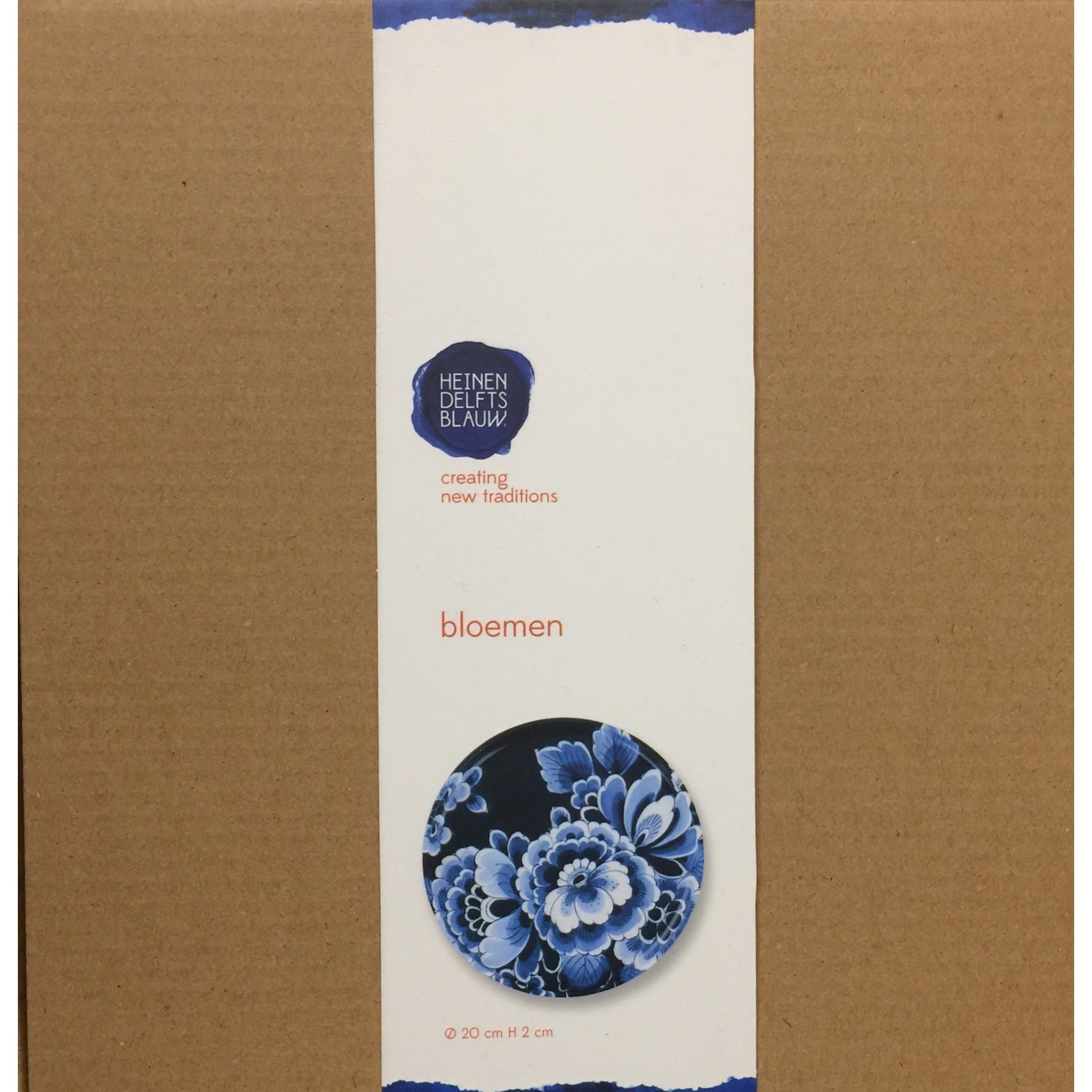 Heinen Heinen Delfts Blauw  wandbord Bloemen 20 cm