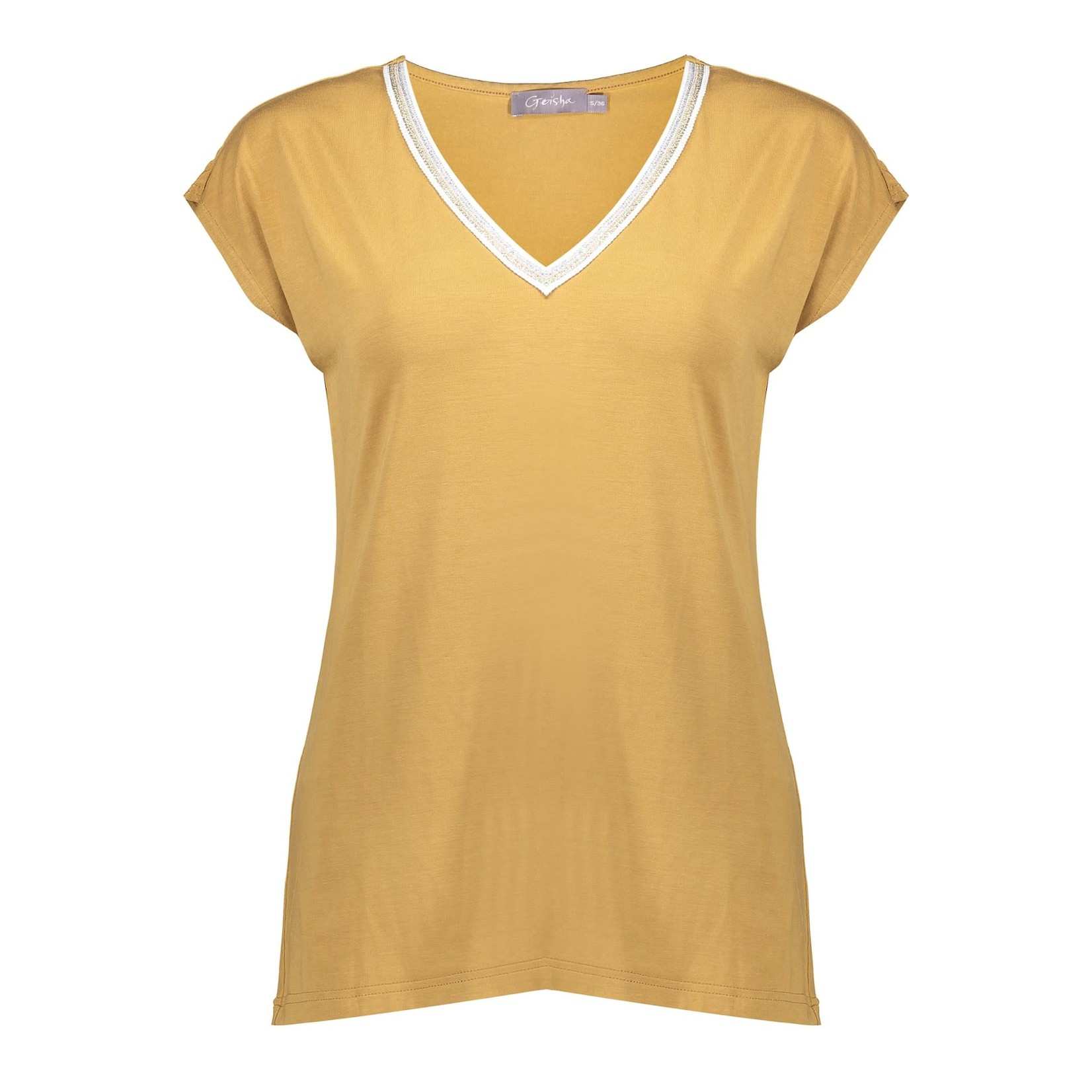Geisha Geisha top sleeveless with tape at neck 12067-20