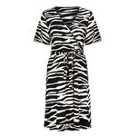 Geisha Geisha dress zebra & strap at waist s/s 17130-20