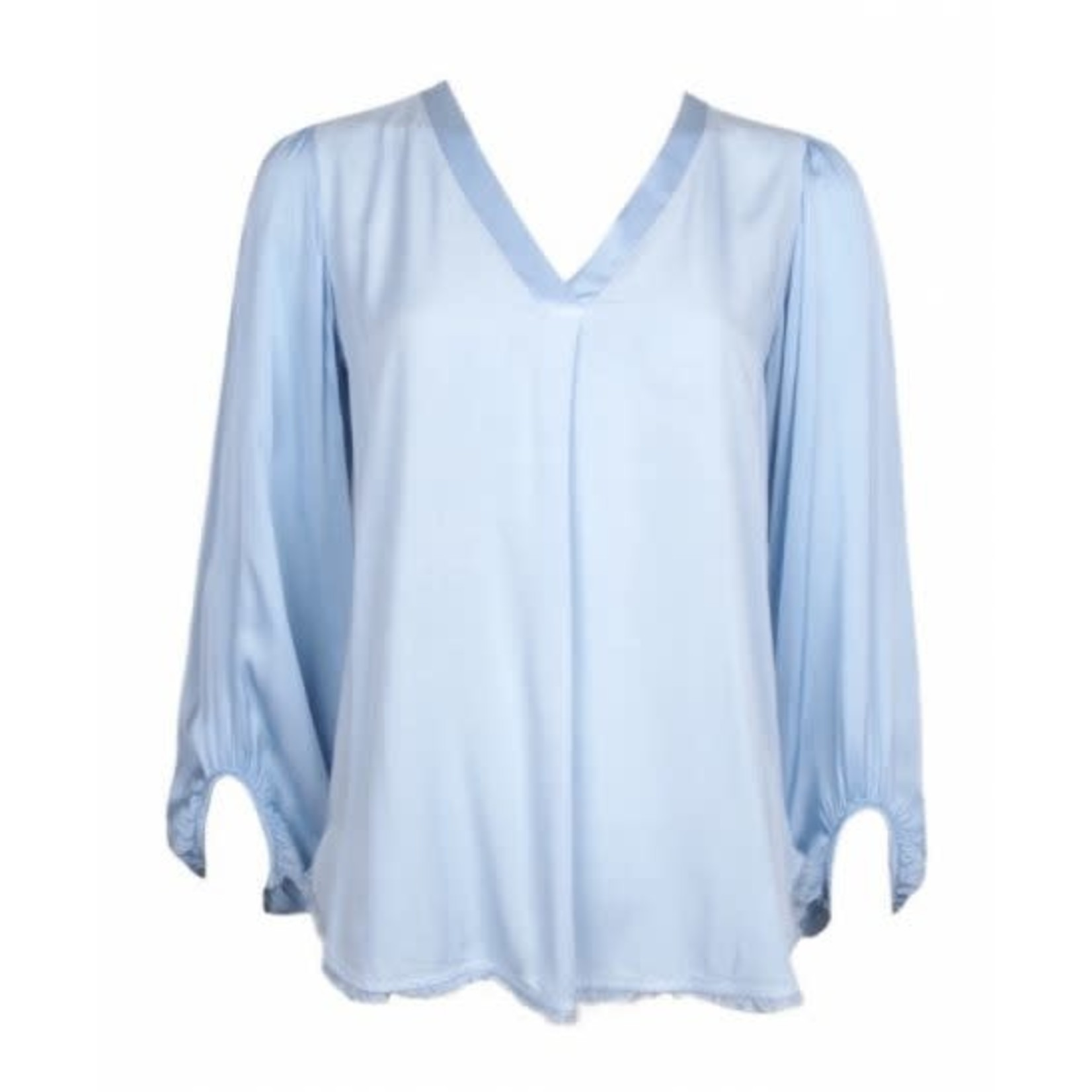 20 to 20 to blouse v neck satin sleeve 21SS102-009