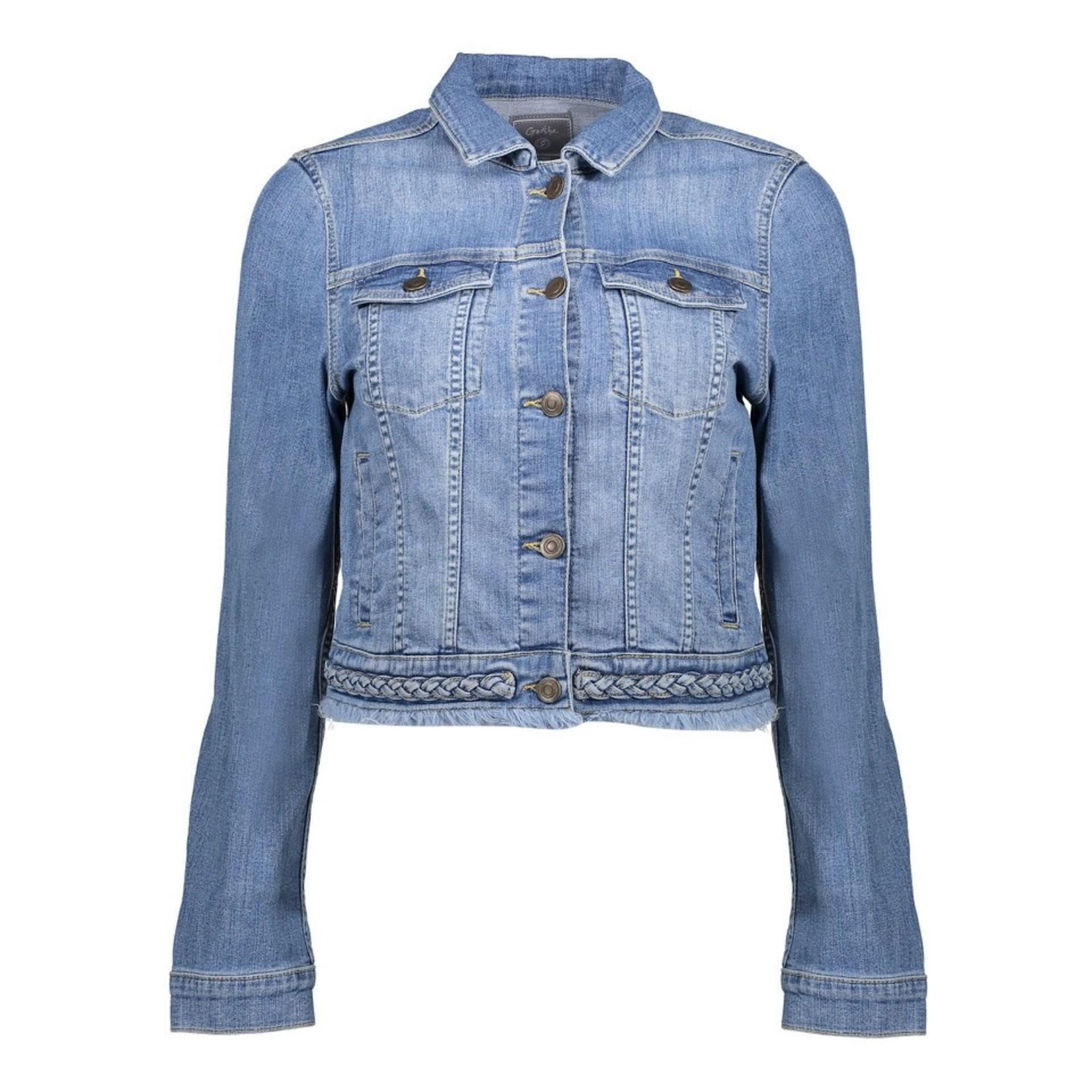 Geisha Geisha denim jacket mid blue denim 15065-43