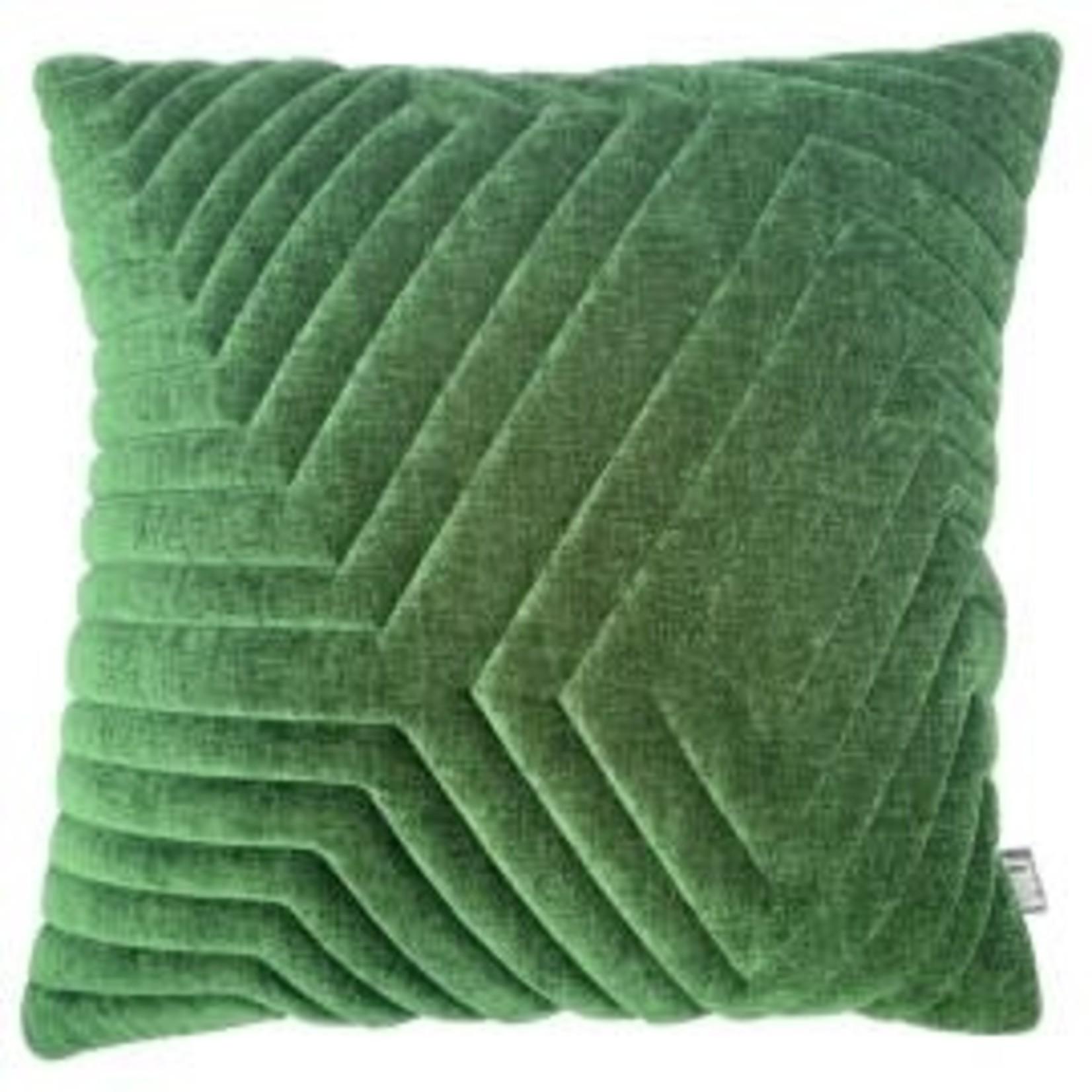 Volt Volt cushion 3D Maze 60x60cm Velvet pista green