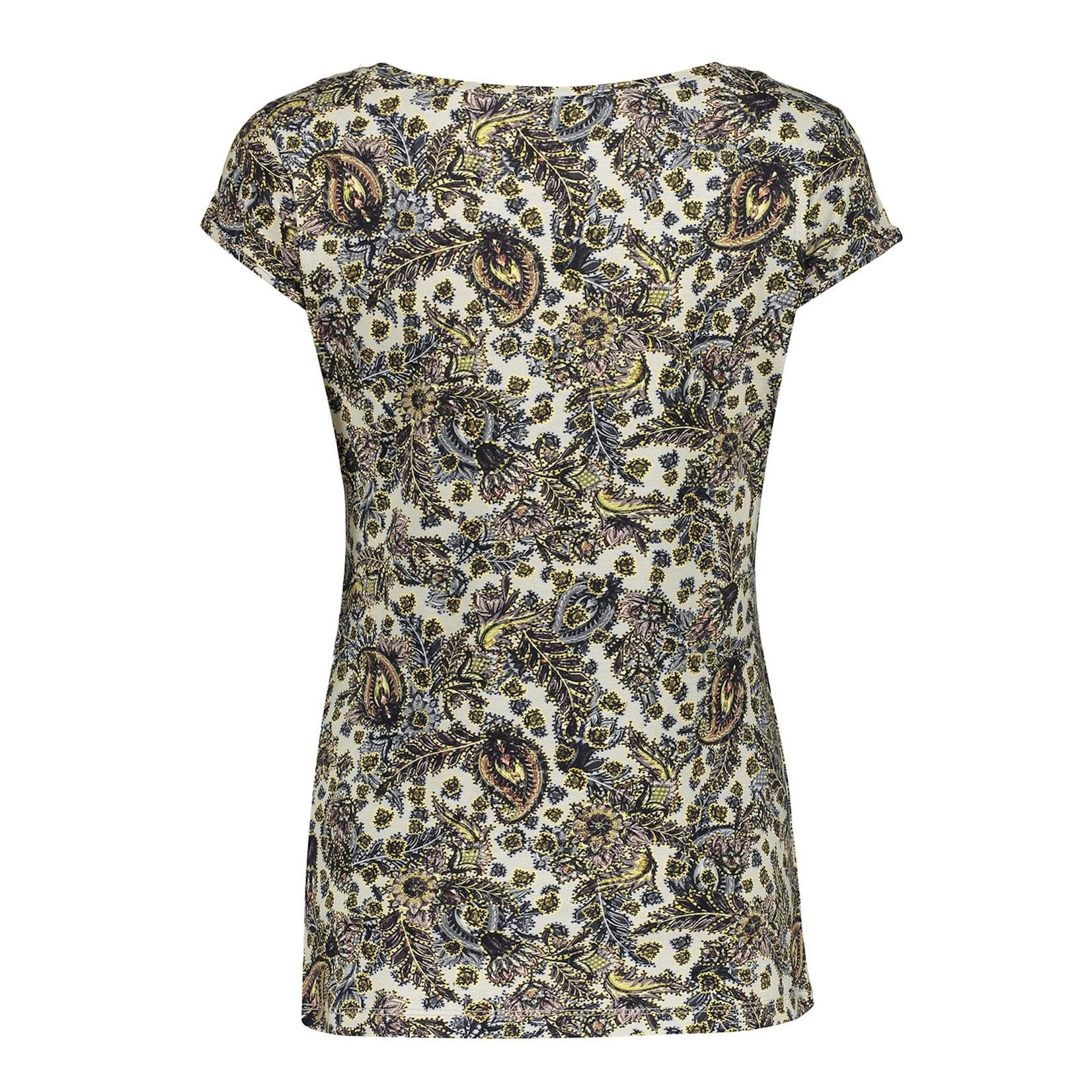 Geisha Geisha t-shirt short sleeve Brown/yellow 12130-60 KATE