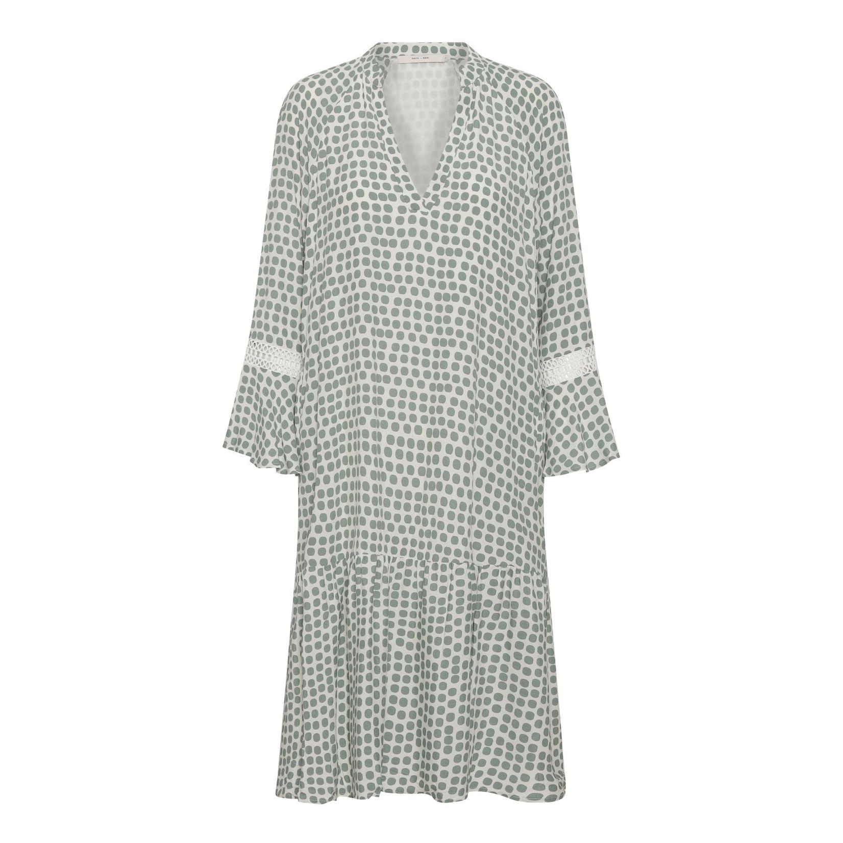 Costa & Mani Costa Mani mette dot dress white/green 2101320