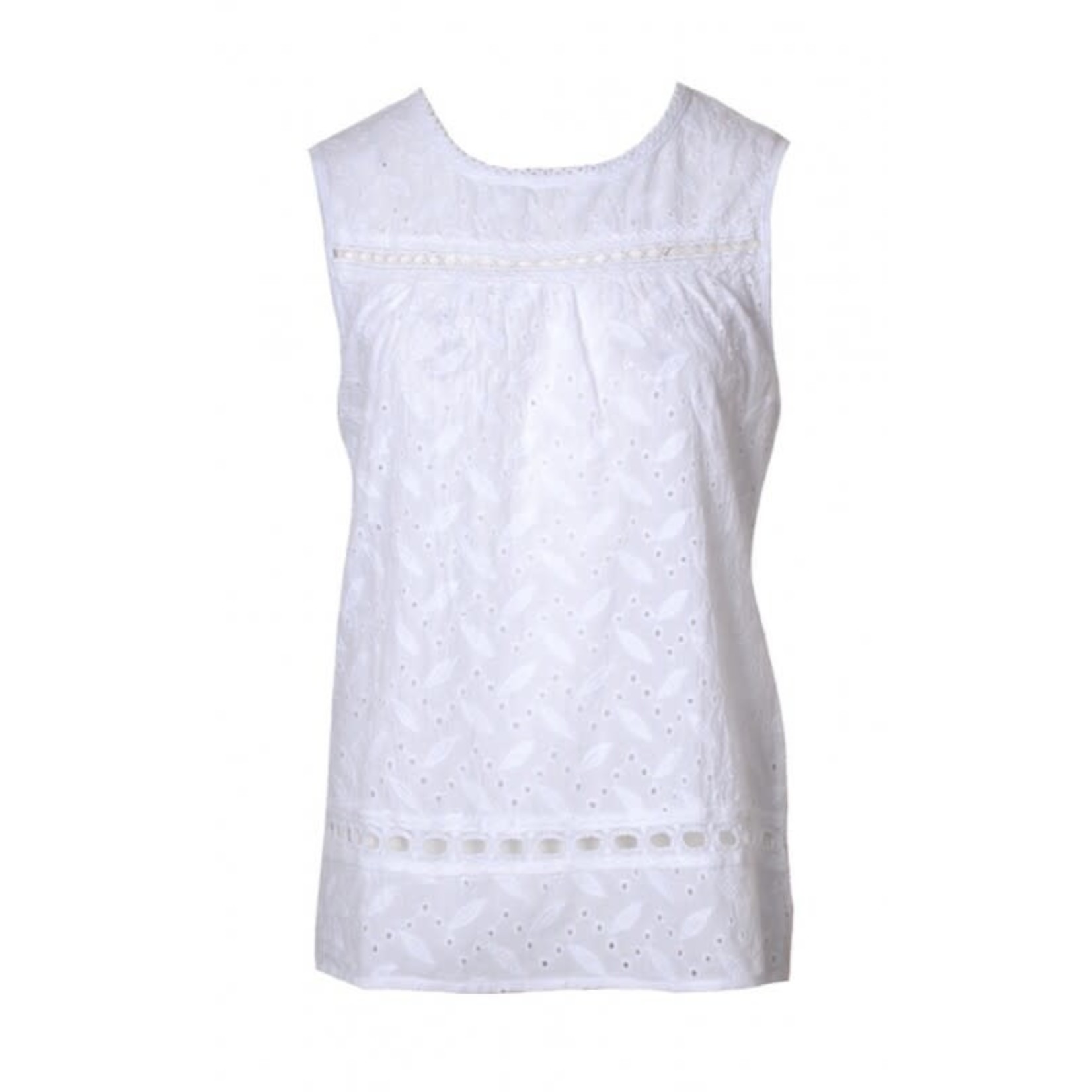 20-to Blouse Sleeveless Broderie