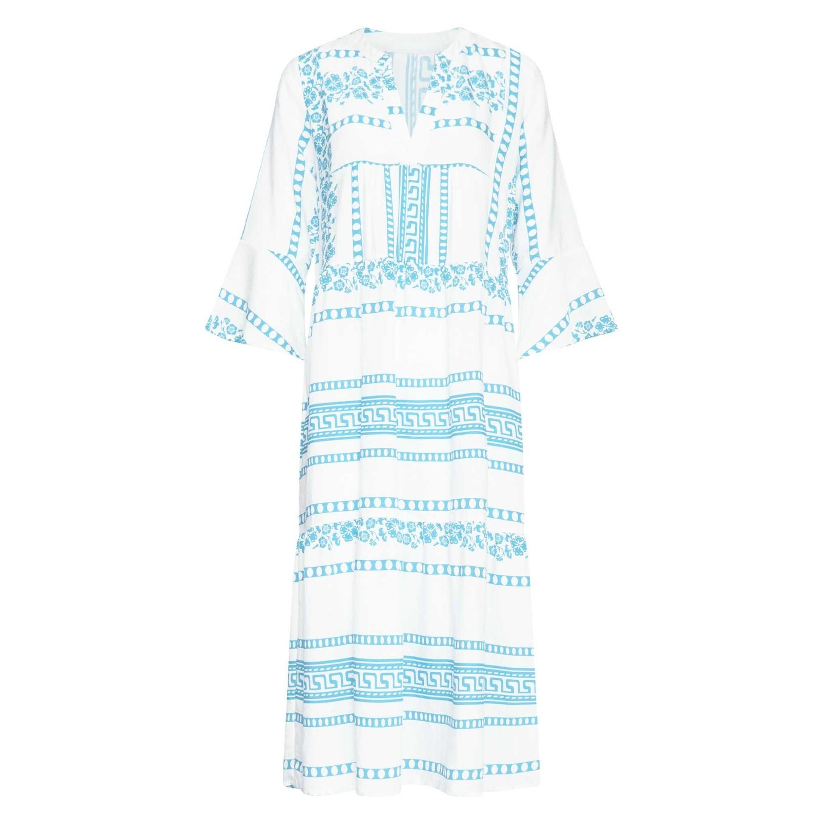 Smashed Lemon Smashed Lemon Dress White/Blue 21150