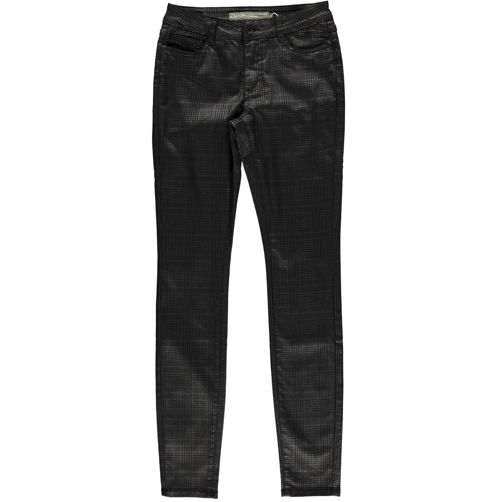 Geisha Geisha Pants Check Black 11515-10