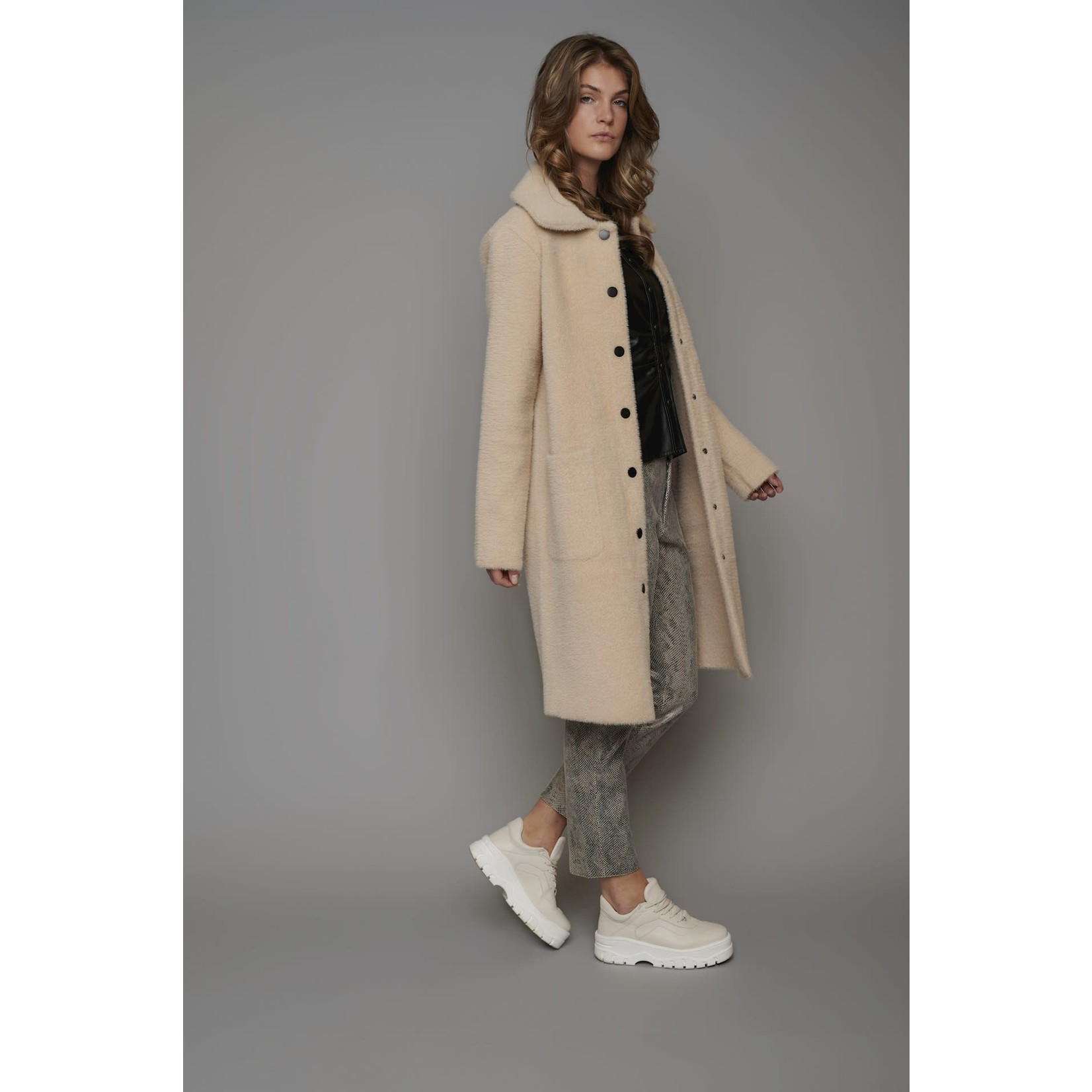 Rino & Pelle Dence Knitted Coat Cloudy Pink700W21