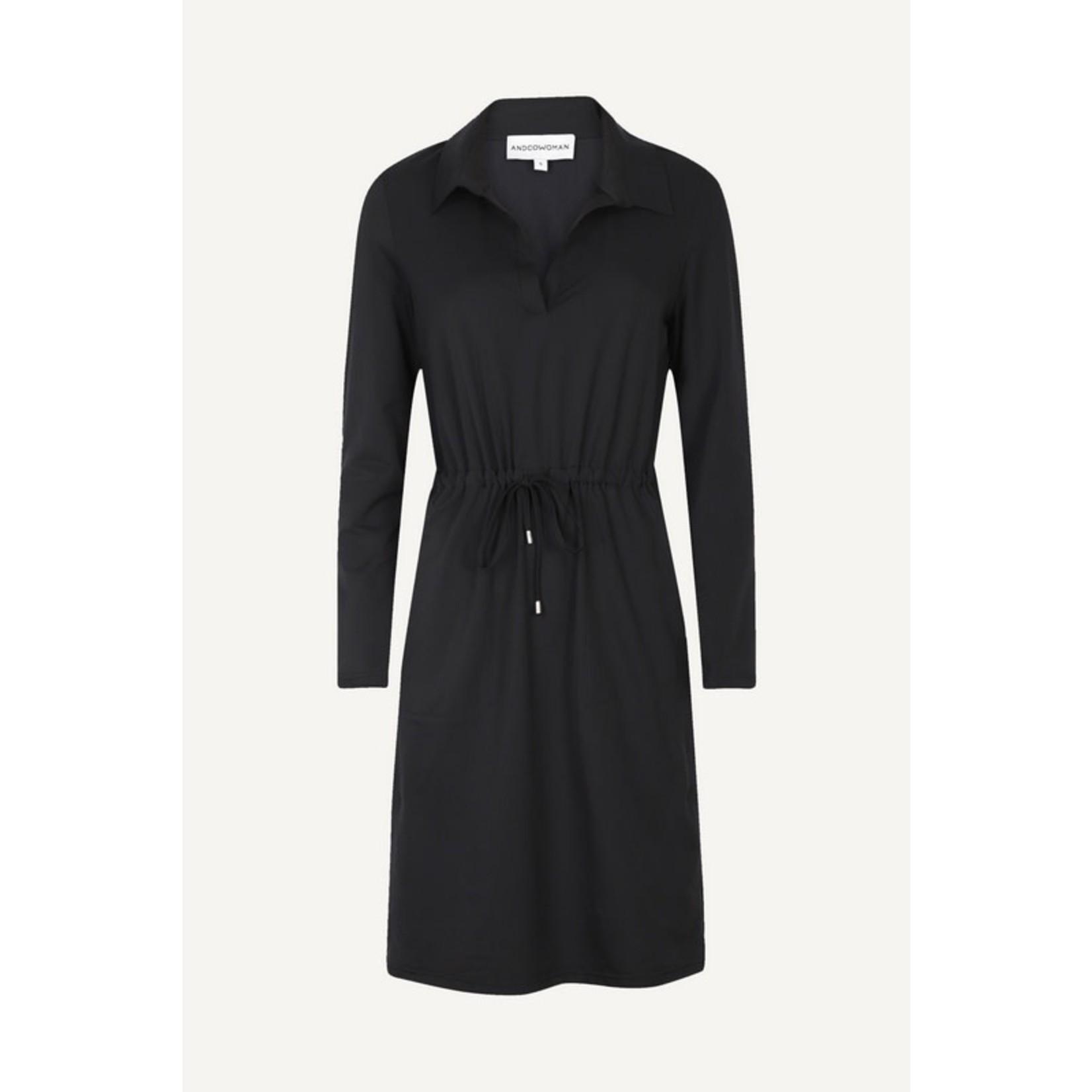 & Co & CO Woman Pearl Dress  Black