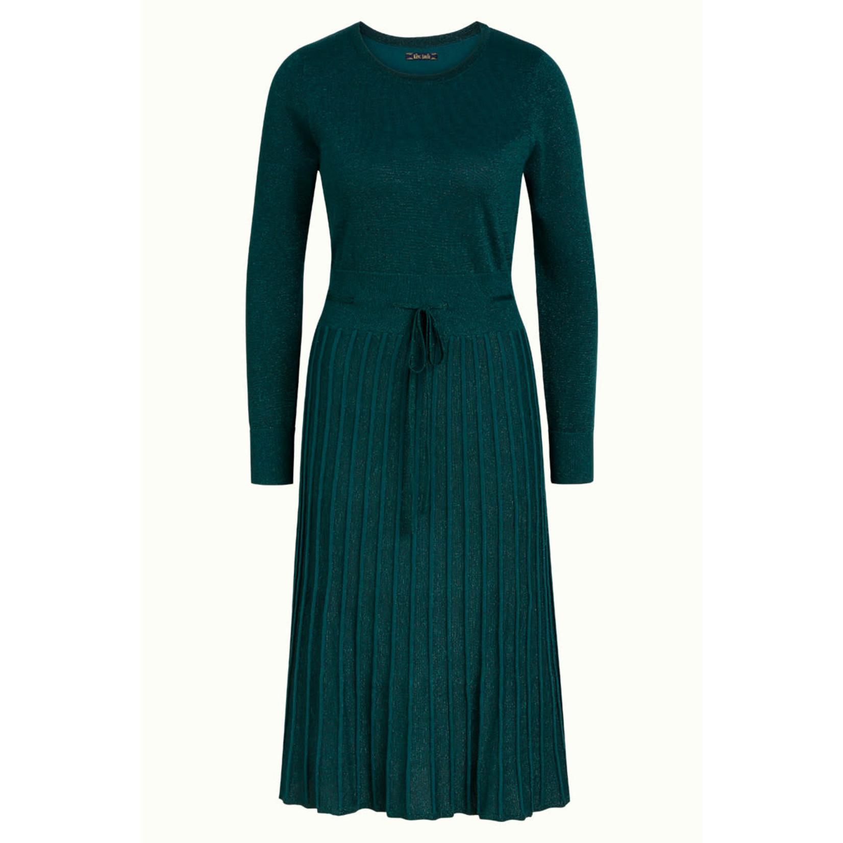 King Louie King Louie Plissé Knit Dress Azul 06413