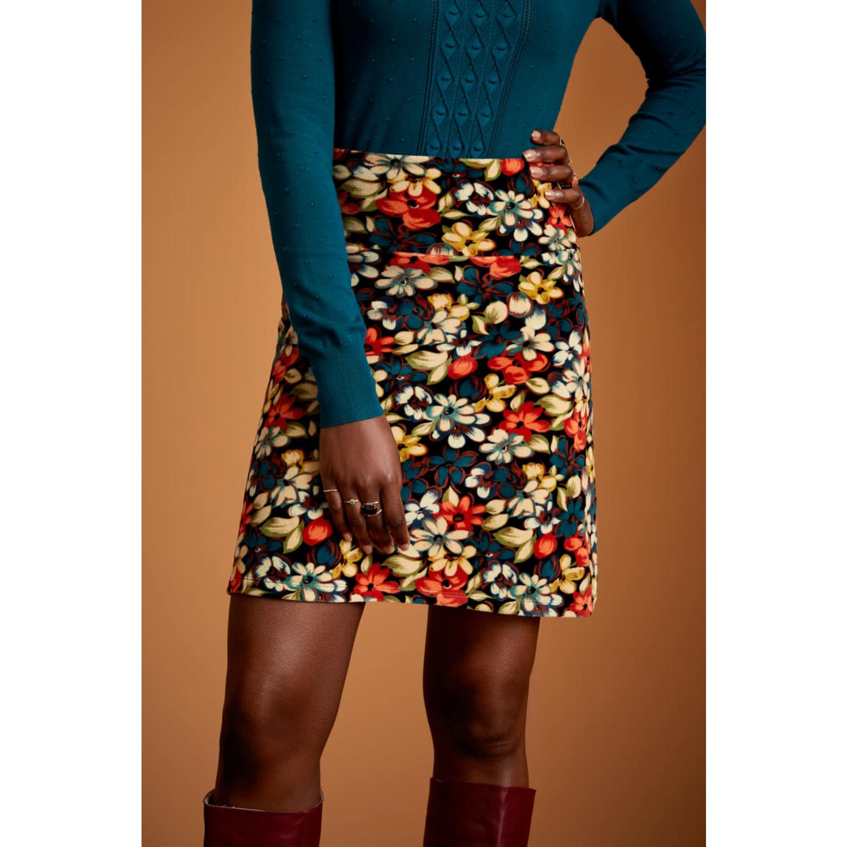 King Louie King Louie Border Skirt Lovell Black 06757