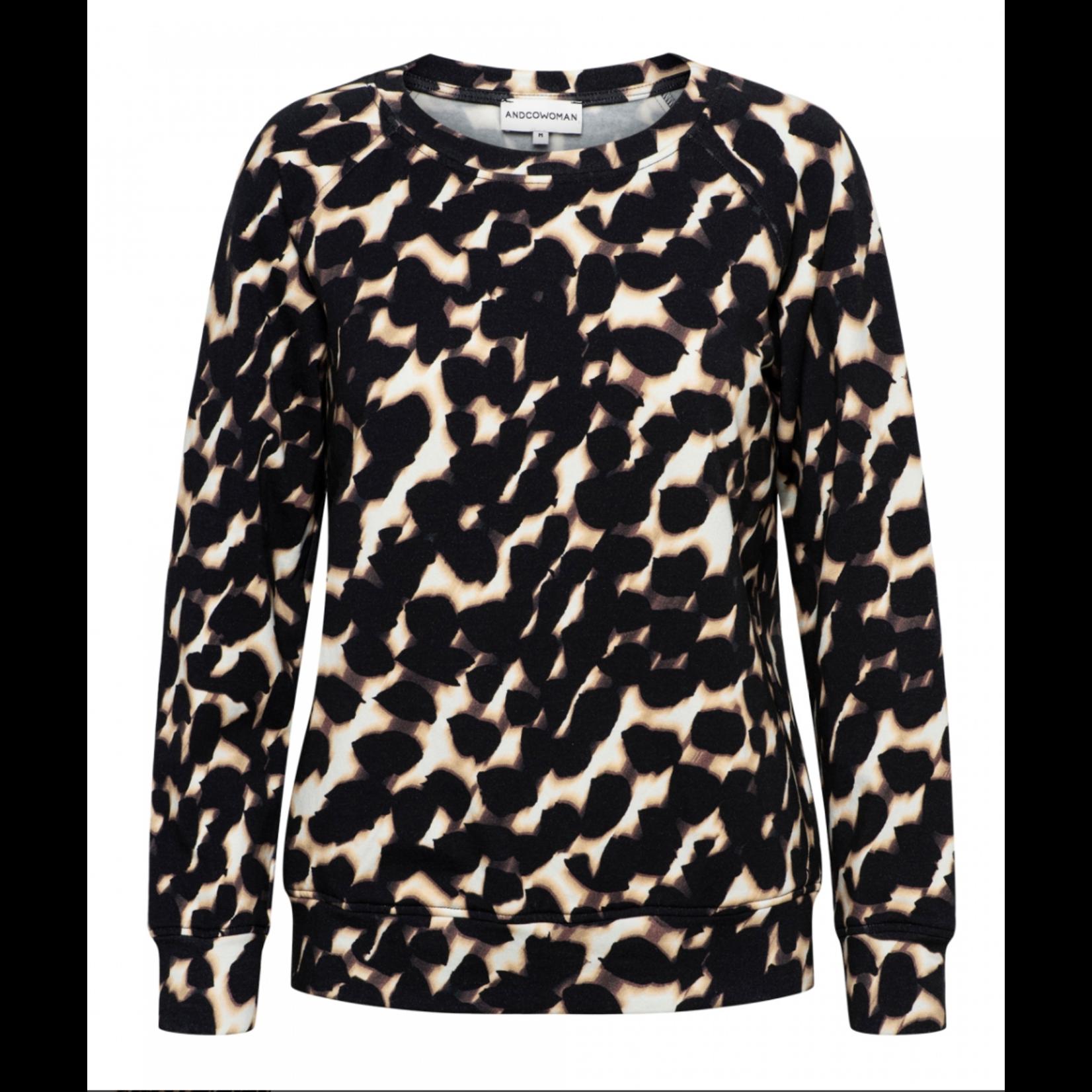 & Co &CO Woman Cara Sweater Faded Dot