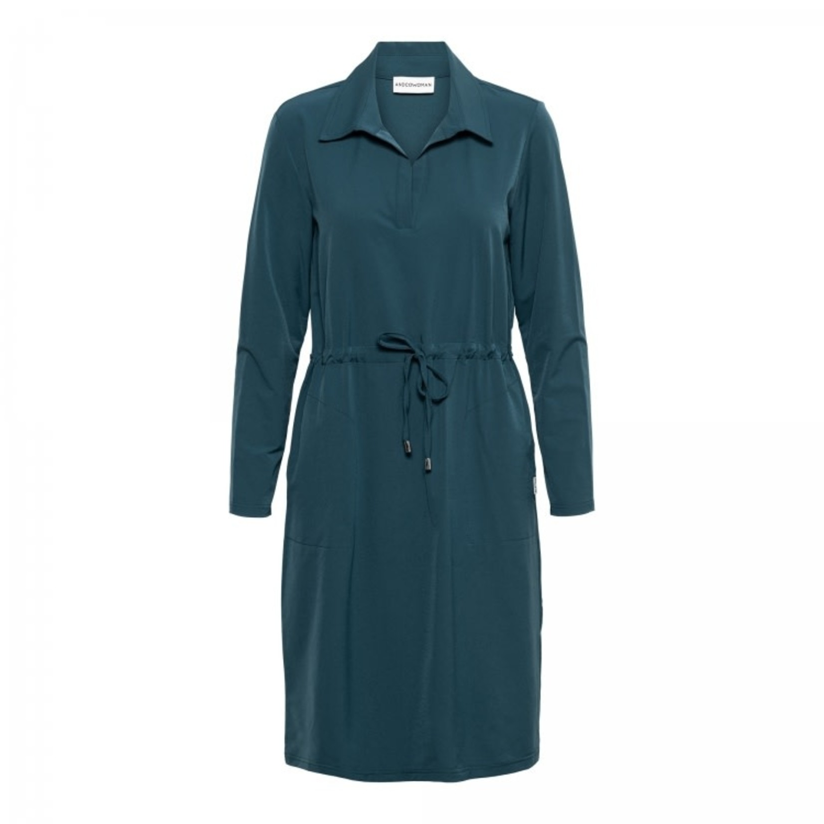 & Co & CO Woman Pearl Dress Pine Green