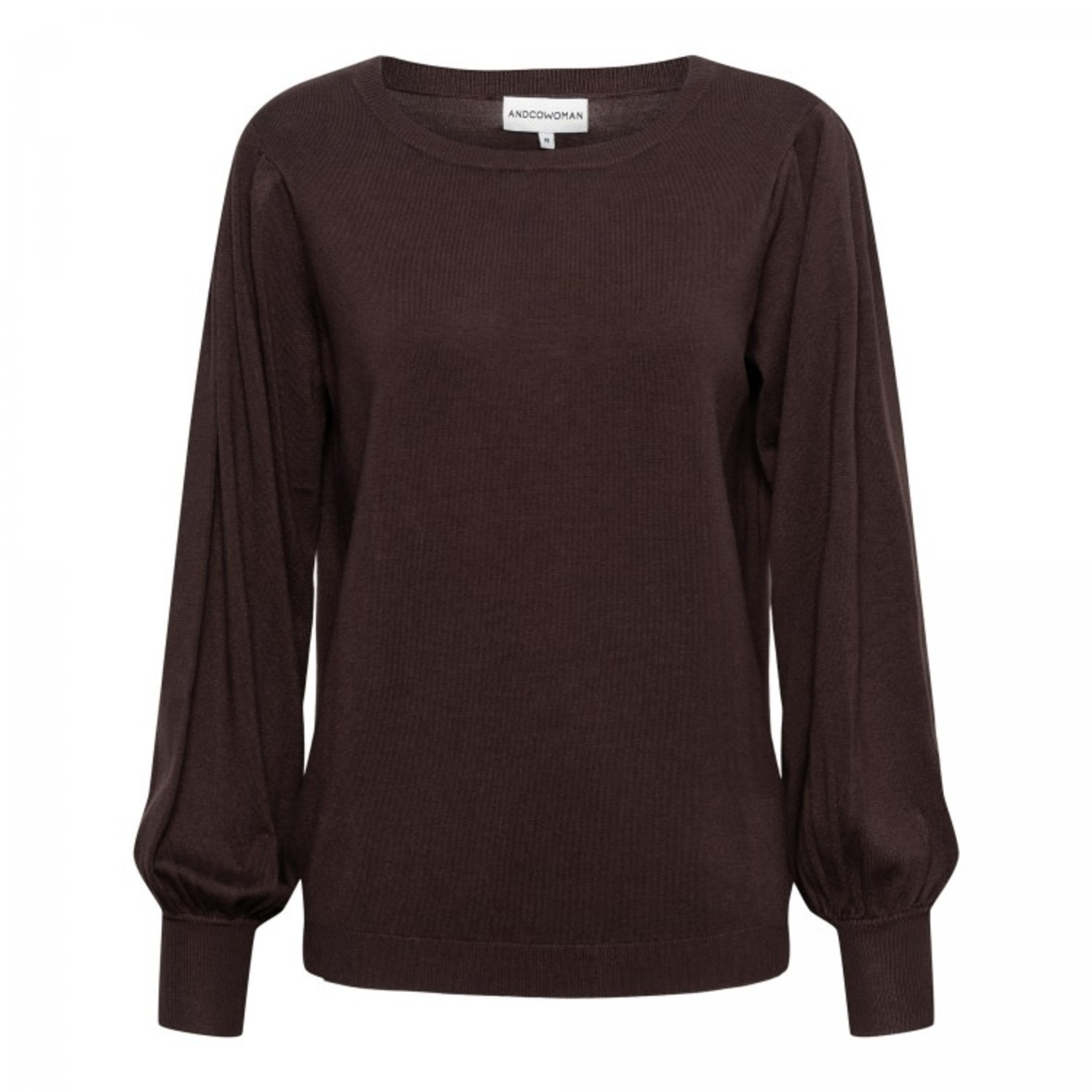 & Co & Co Woman Blossom Pullover Brown