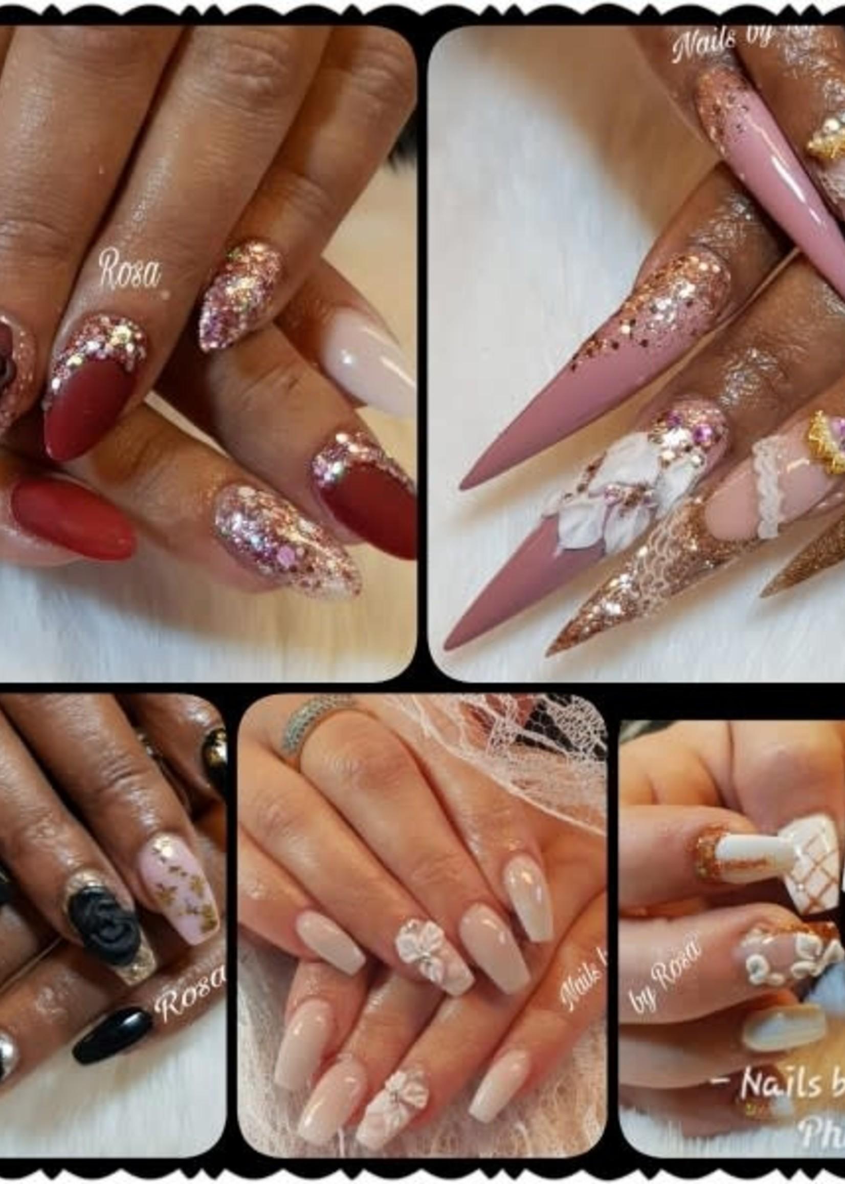 3d nail art/bloemen