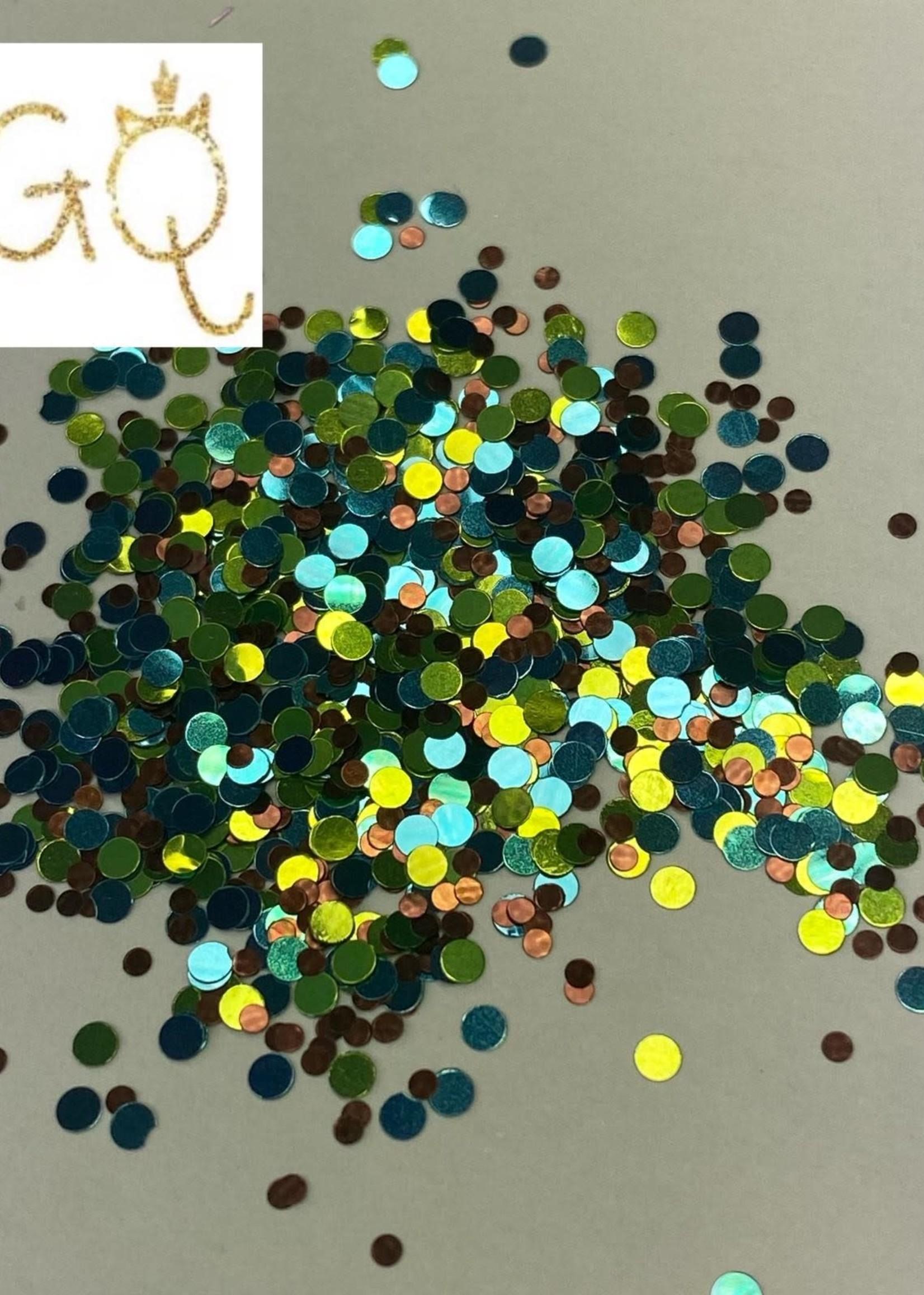 Glitter Queen Blue Green Dot Mix
