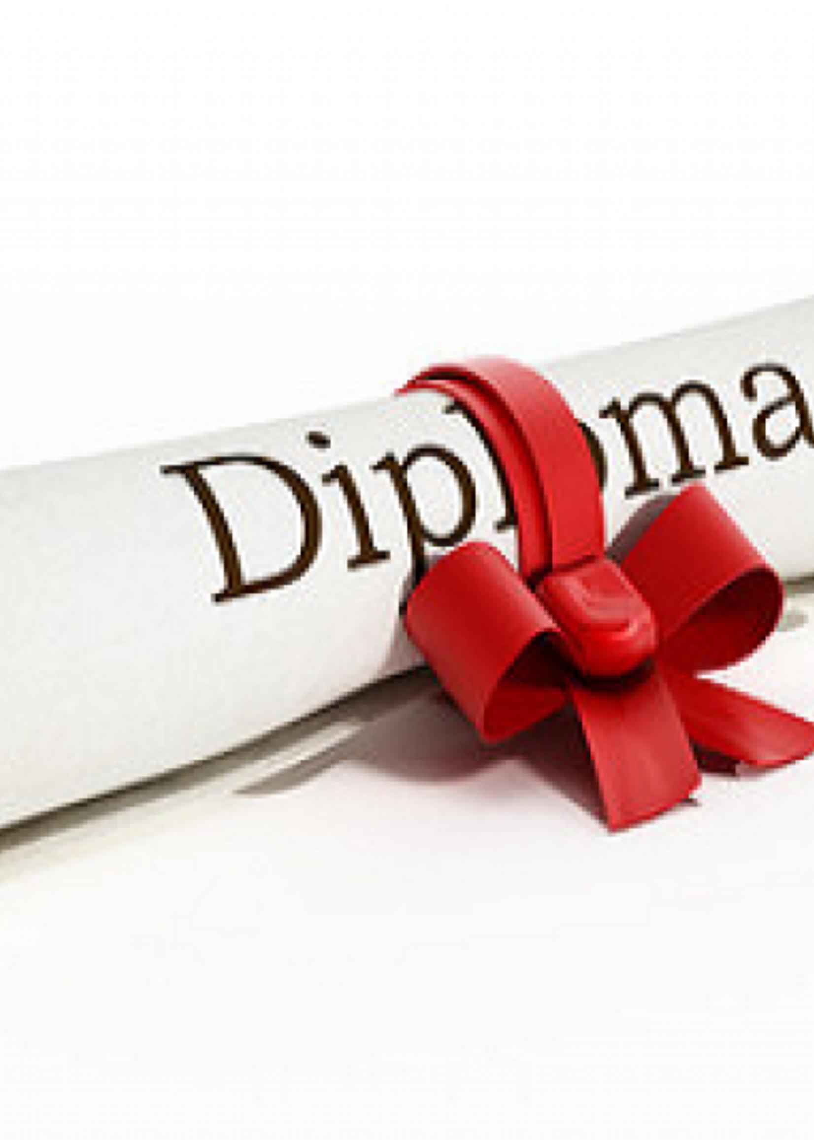 inschrijfgeld voor erkende diploma