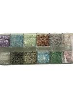 Caja de conchas incrustadas Varios colores