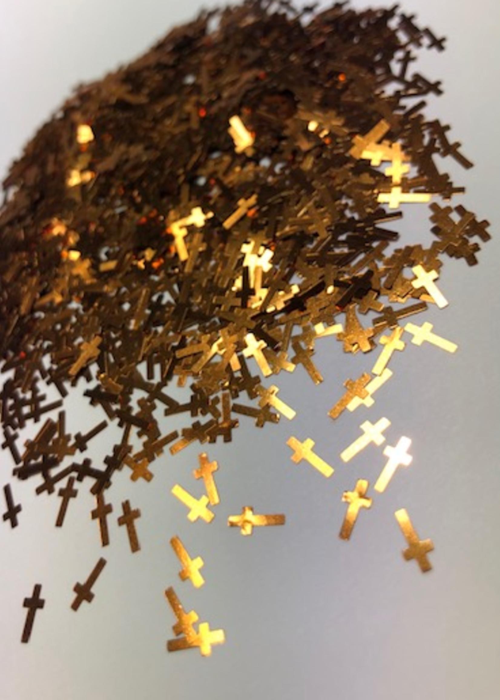 Glitter Queen Gold Cross